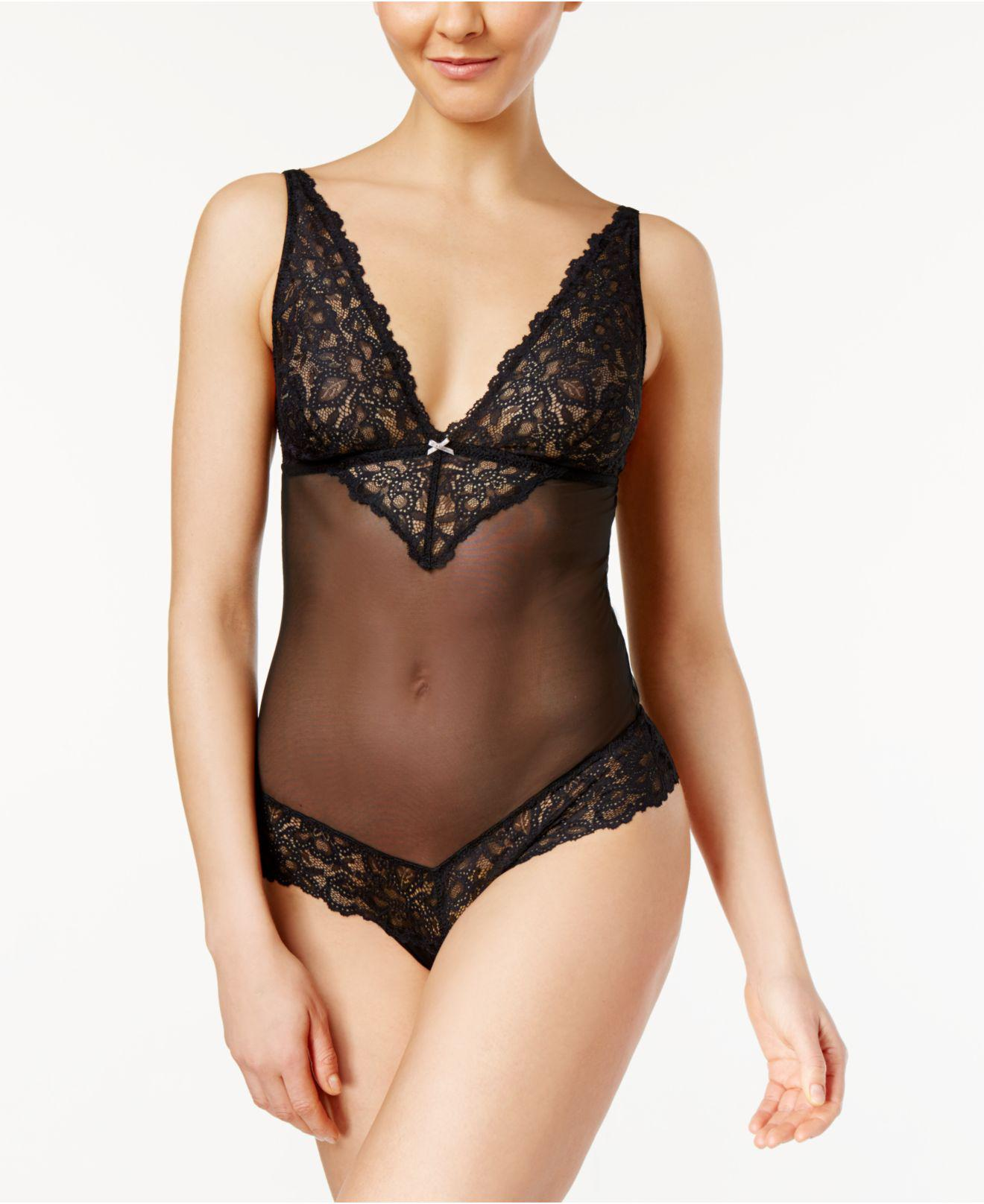 db1f2c47a1535 Lyst - B.tempt d Charming Mesh And Lace Bodysuit 936232 in Black