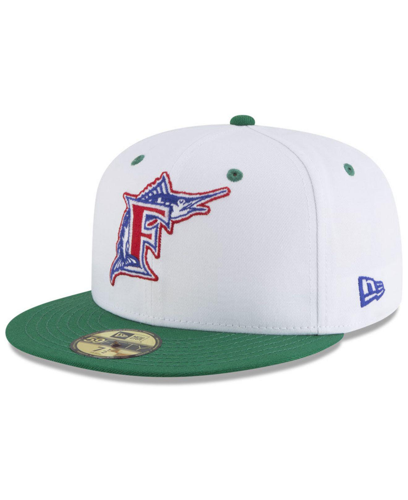 save off 8d69a b448d ... Florida Marlins Retro Diamond 59fifty Fitted Cap for Men - Lyst. View  fullscreen
