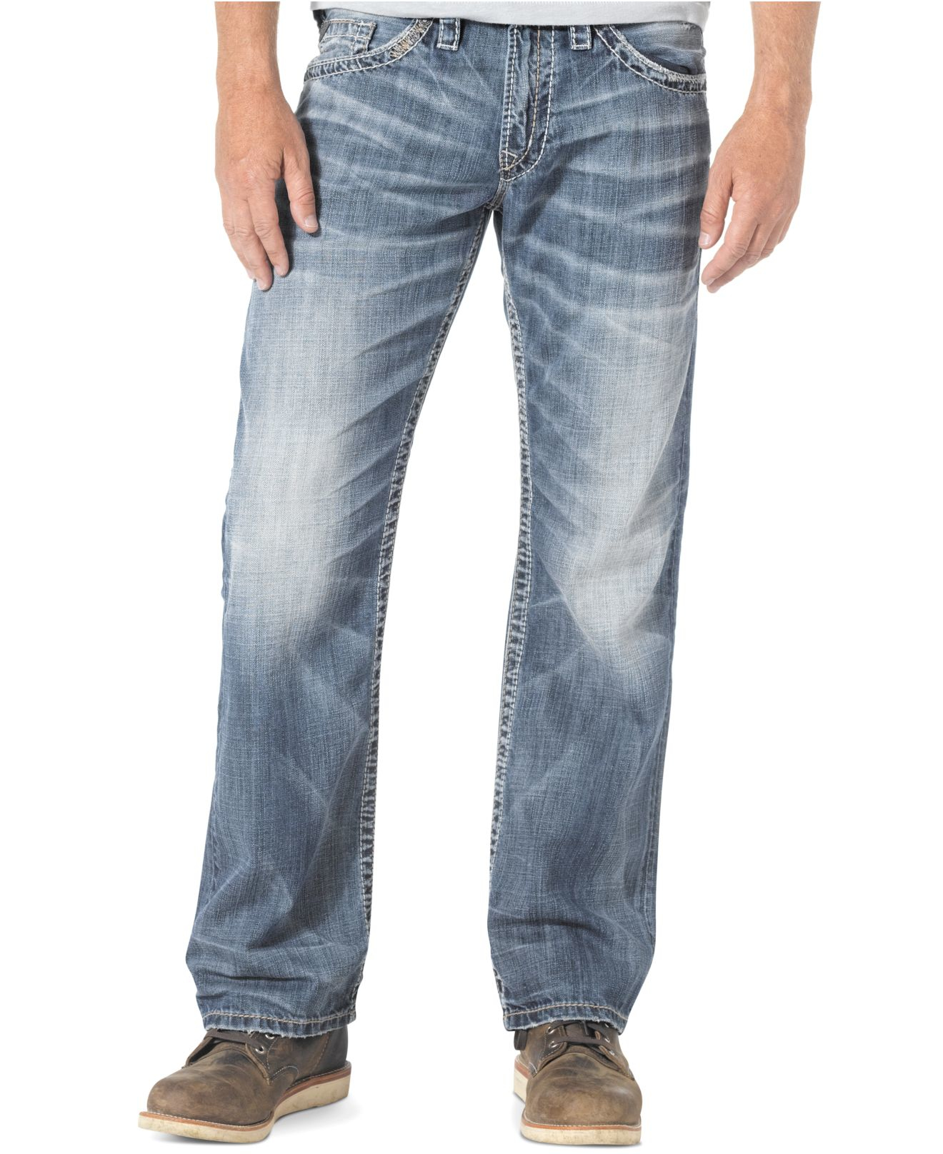 QUALITY MATERIAL - The Silver Jeans Co. Men's Zac Denim Pants are Silver Jeans Offer: Free 2-day shipping for all Prime members.