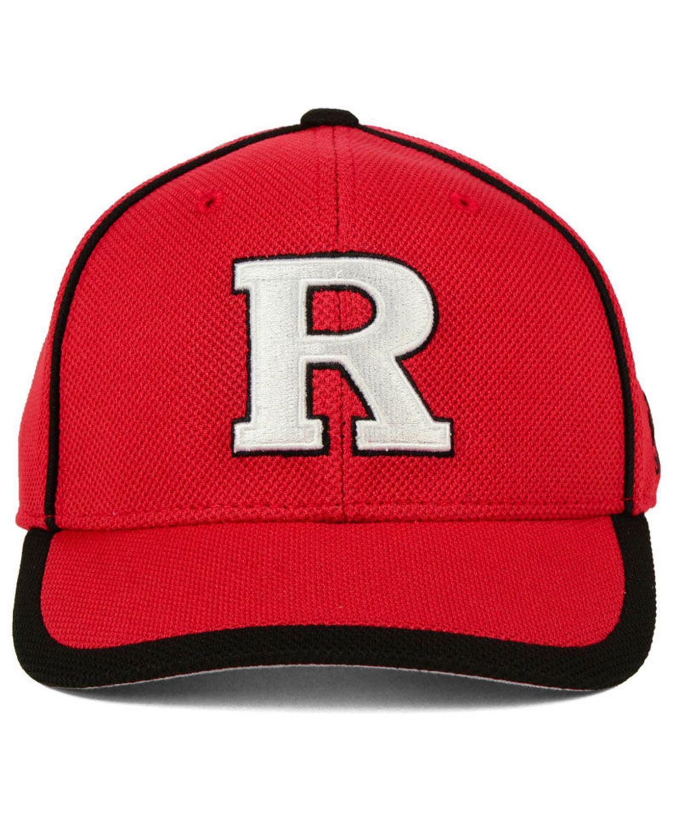 best service e8137 03c10 ... amazon lyst adidas rutgers scarlet knights piping hot adjustable cap in  red for men 2efe4 91a40