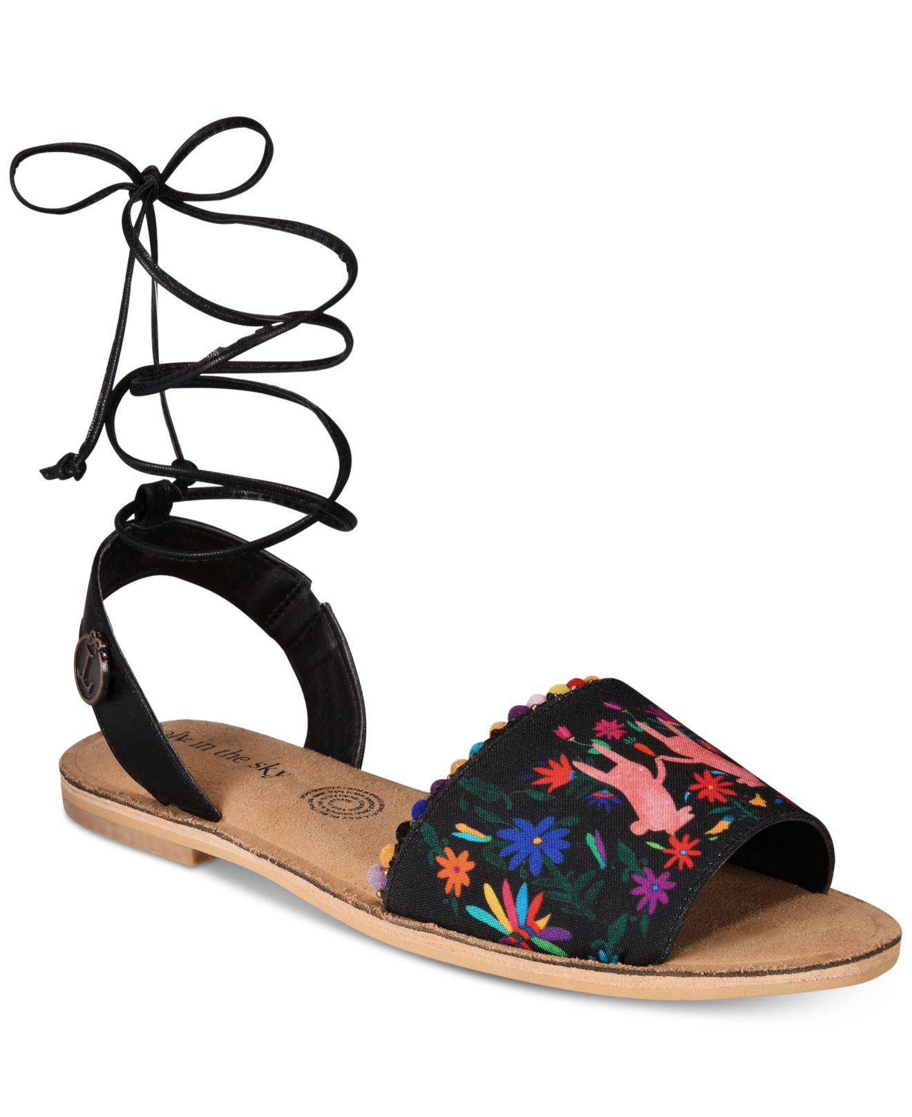 4b0bdc8c7a7e43 Loly In The Sky Pom Pom Sandals From The Workshop At Macy s - Lyst