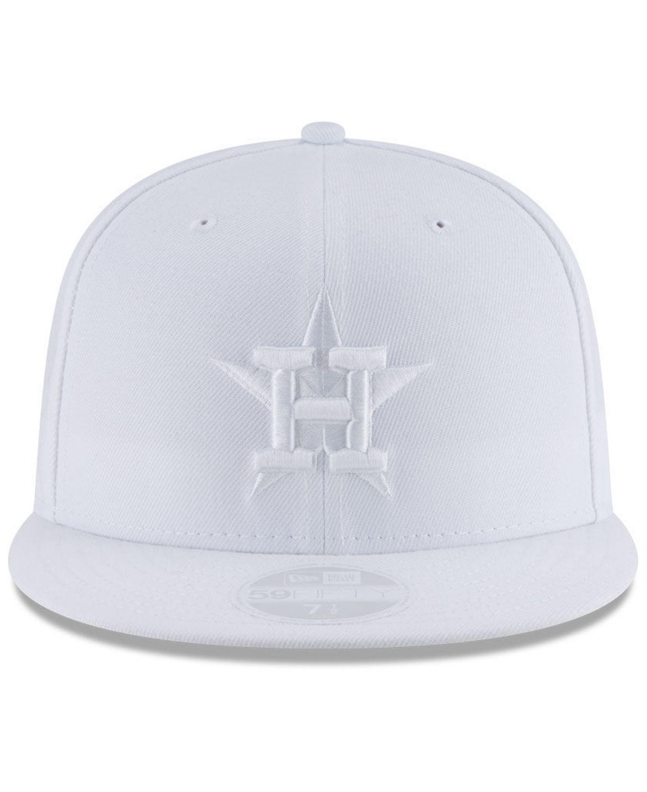 new concept 8a0cf a40a1 Lyst - KTZ Houston Astros White Out 59fifty Fitted Cap in White for Men