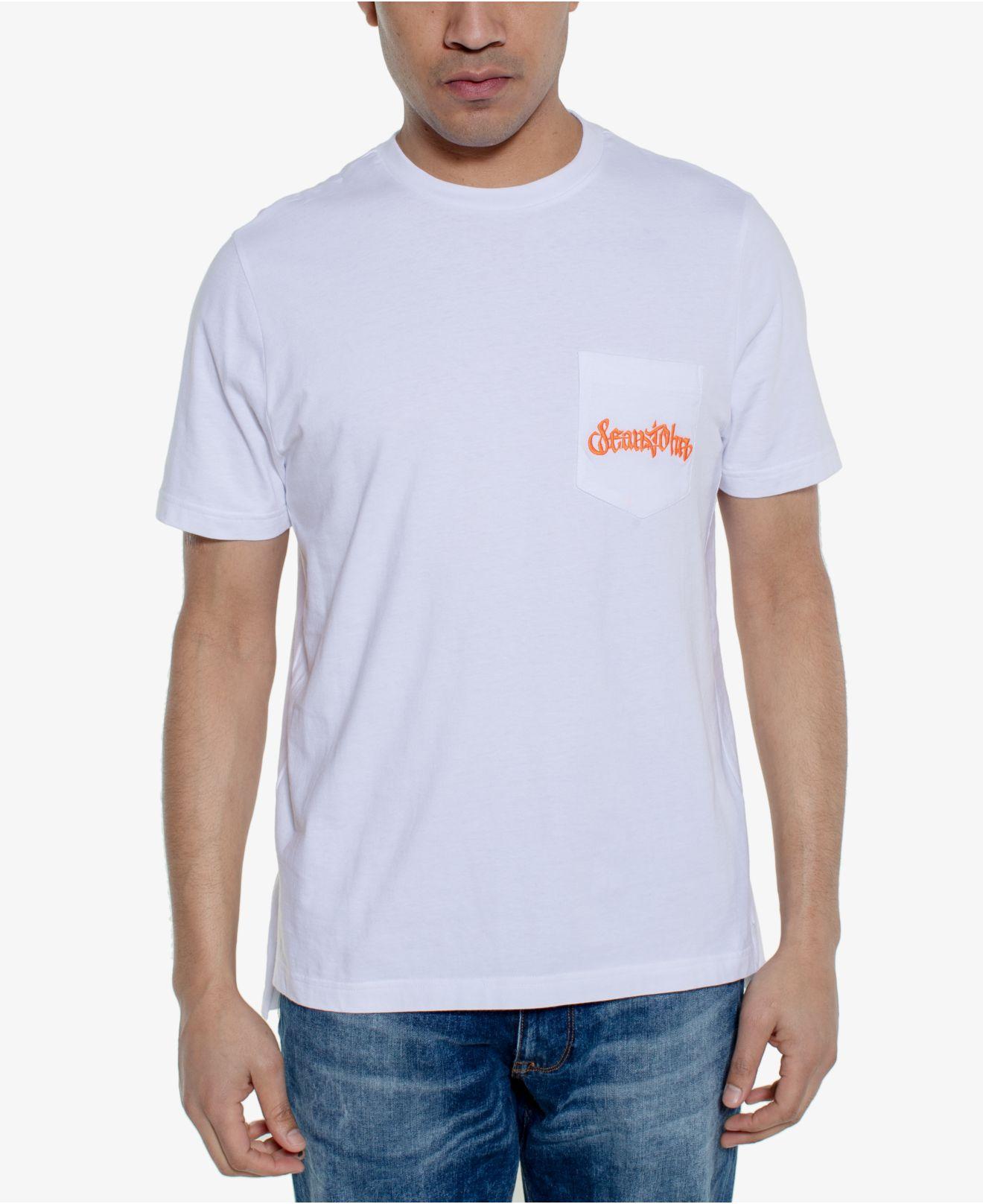 02e2d97982 Lyst - Sean John Tiger Logo Graphic Pocket T-shirt in White for Men