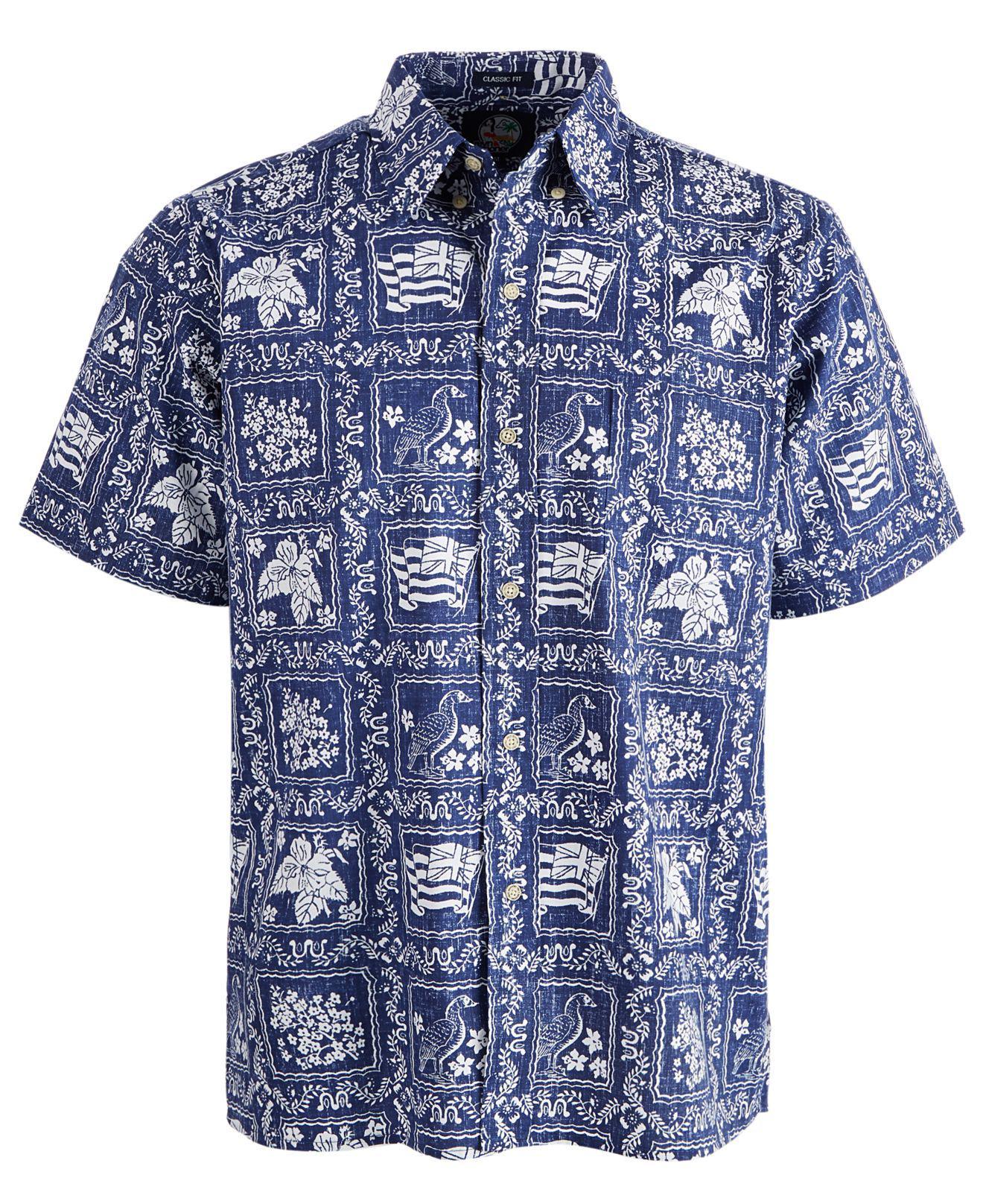 27916b5ab90 Lyst - Reyn Spooner Printed Shirt in Blue for Men