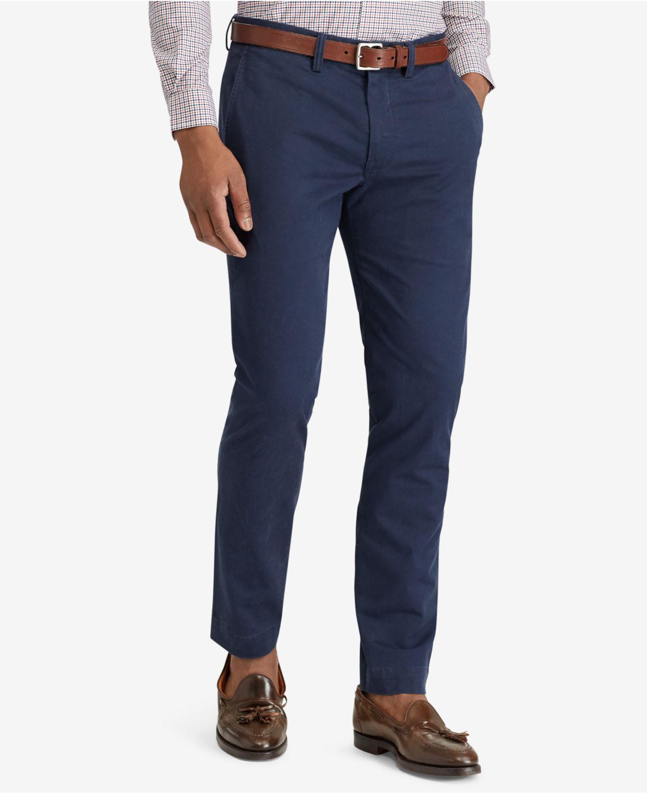 9a580b54abdb9 Polo Ralph Lauren. Blue Men s Straight-fit Bedford Stretch Chino Pants