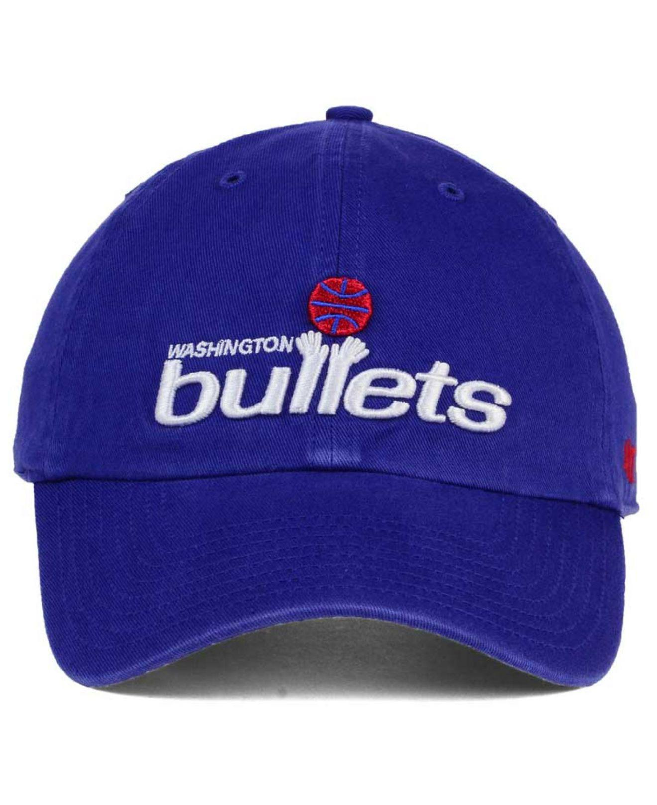 competitive price 4d67e d4fb9 47 Brand Washington Bullets Hardwood Classics Clean Up Cap in Blue ...