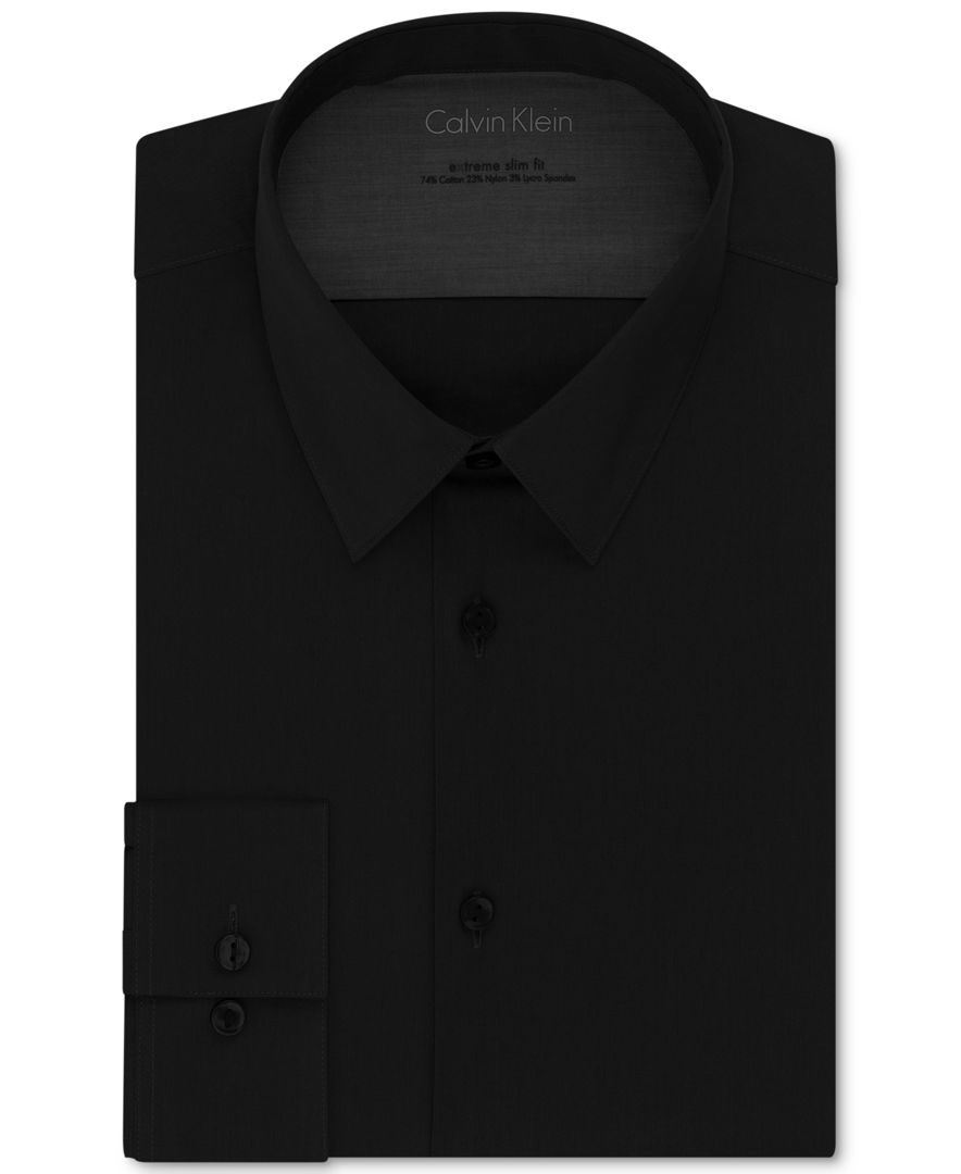 Calvin klein x men 39 s extra slim fit stretch dress shirt in for Calvin klein slim fit stretch shirt
