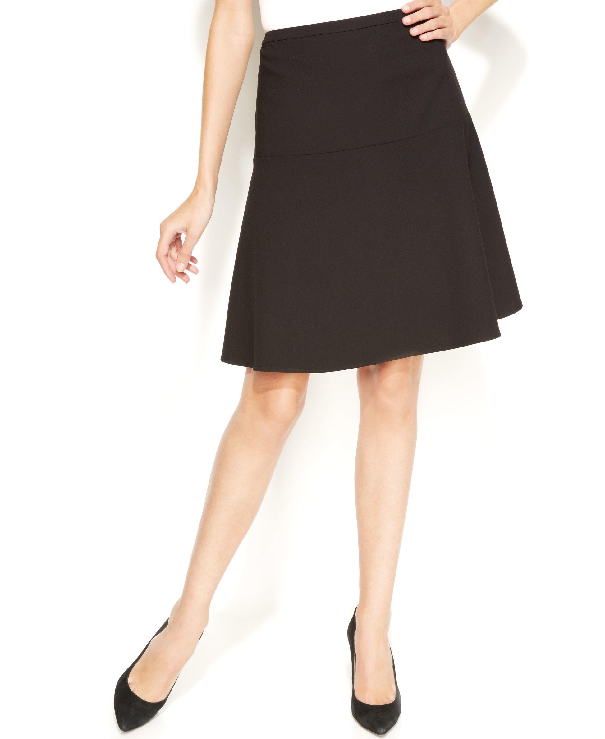calvin klein a line skirt in black lyst