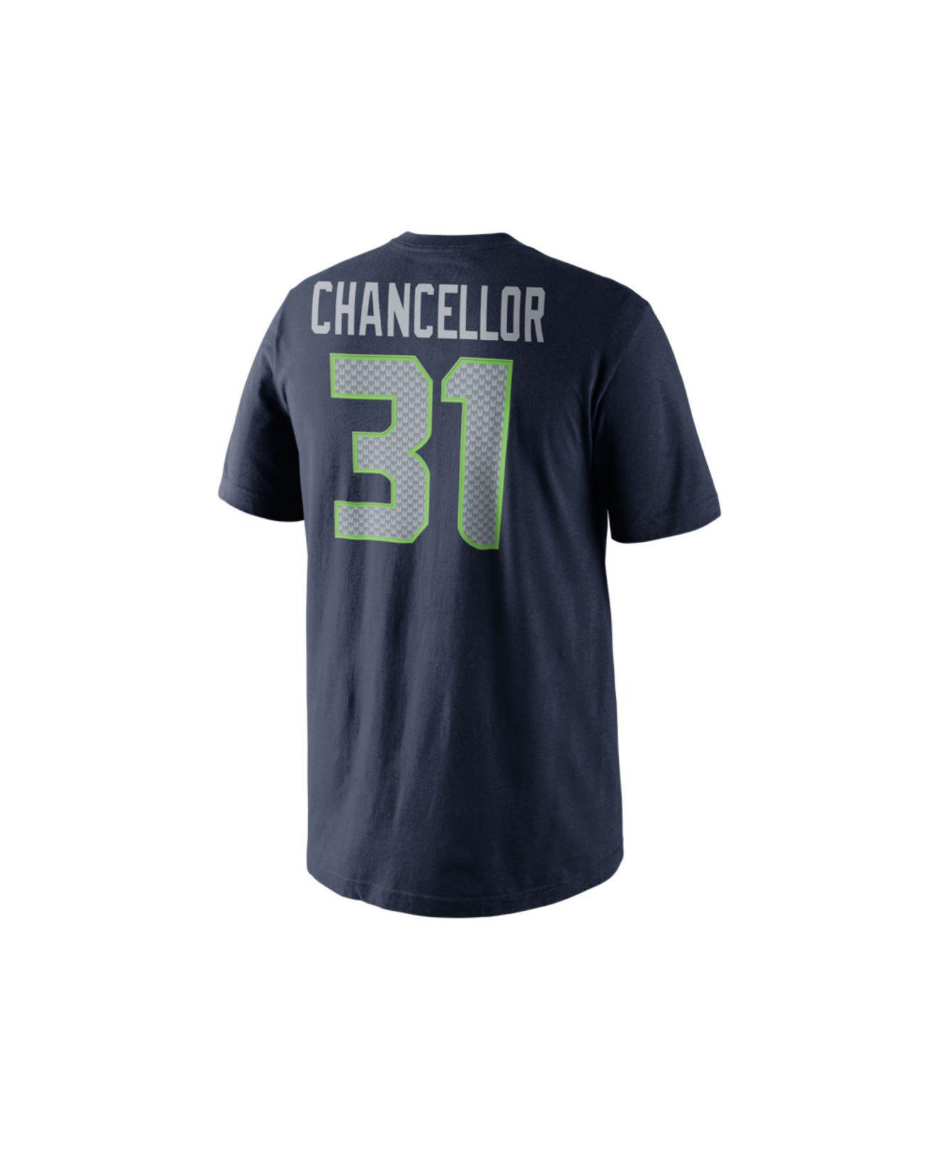 68554b53f Nike. Blue Men S Kam Chancellor Seattle Seahawks Pride Name And Number T- Shirt