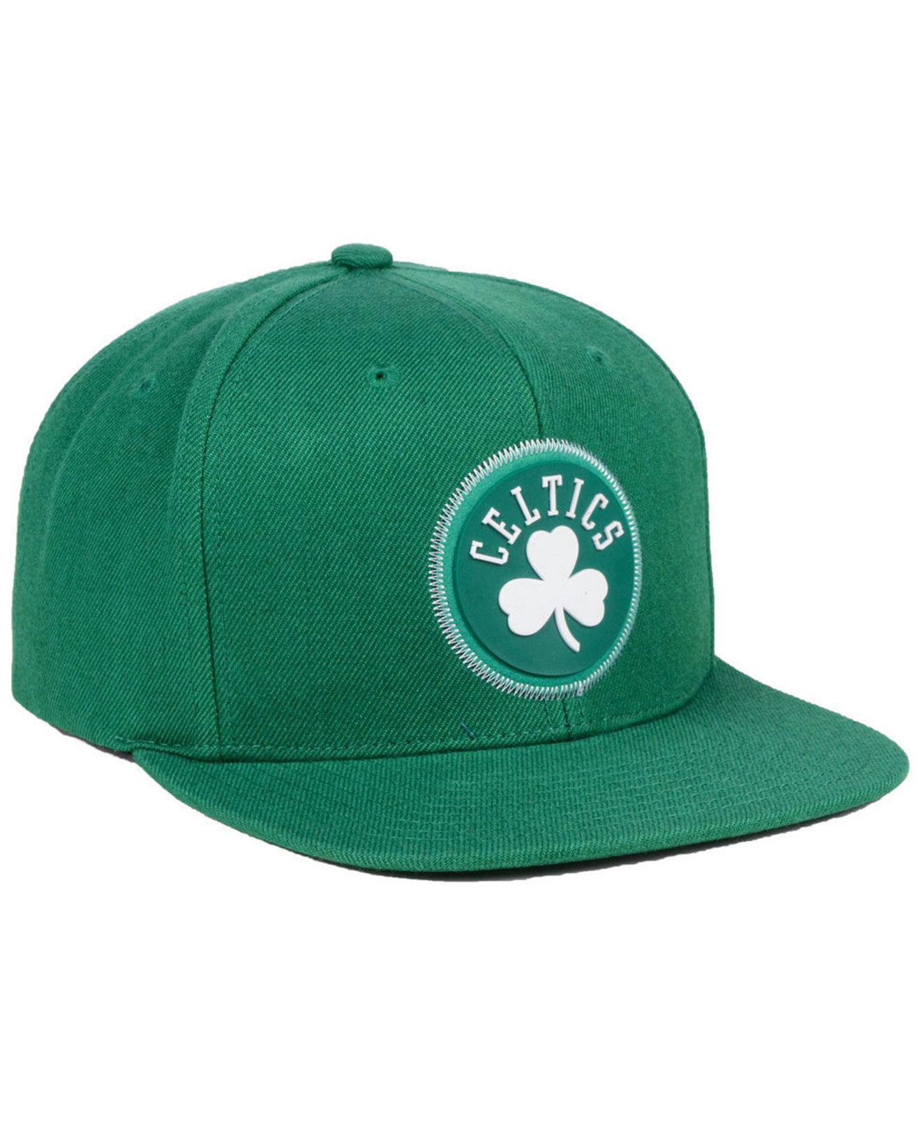 sale retailer 522dd ff39d ... inexpensive mitchell ness green boston celtics zig zag snapback cap for men  lyst. view fullscreen