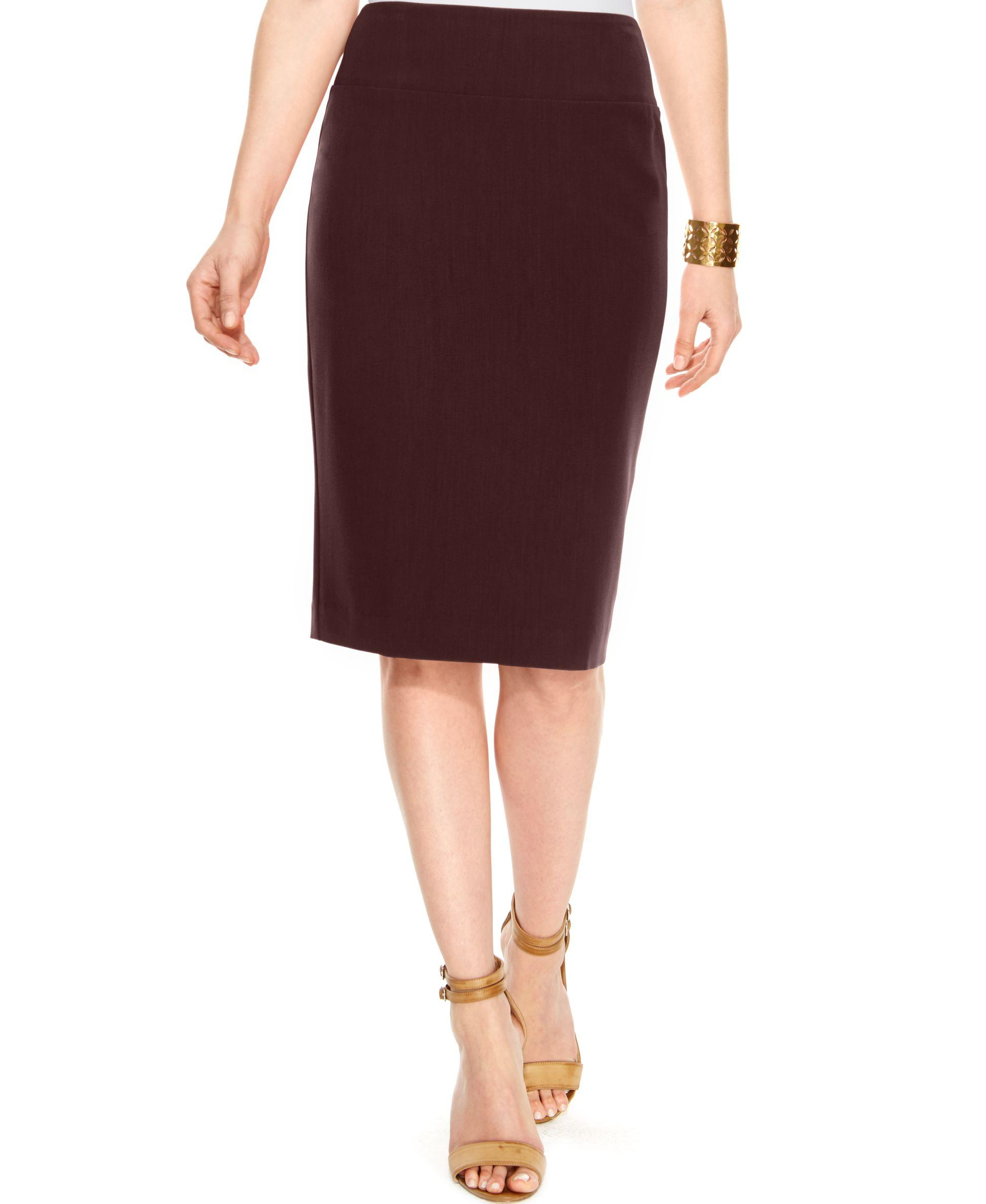 alfani classic pencil skirt only at macy s in lyst