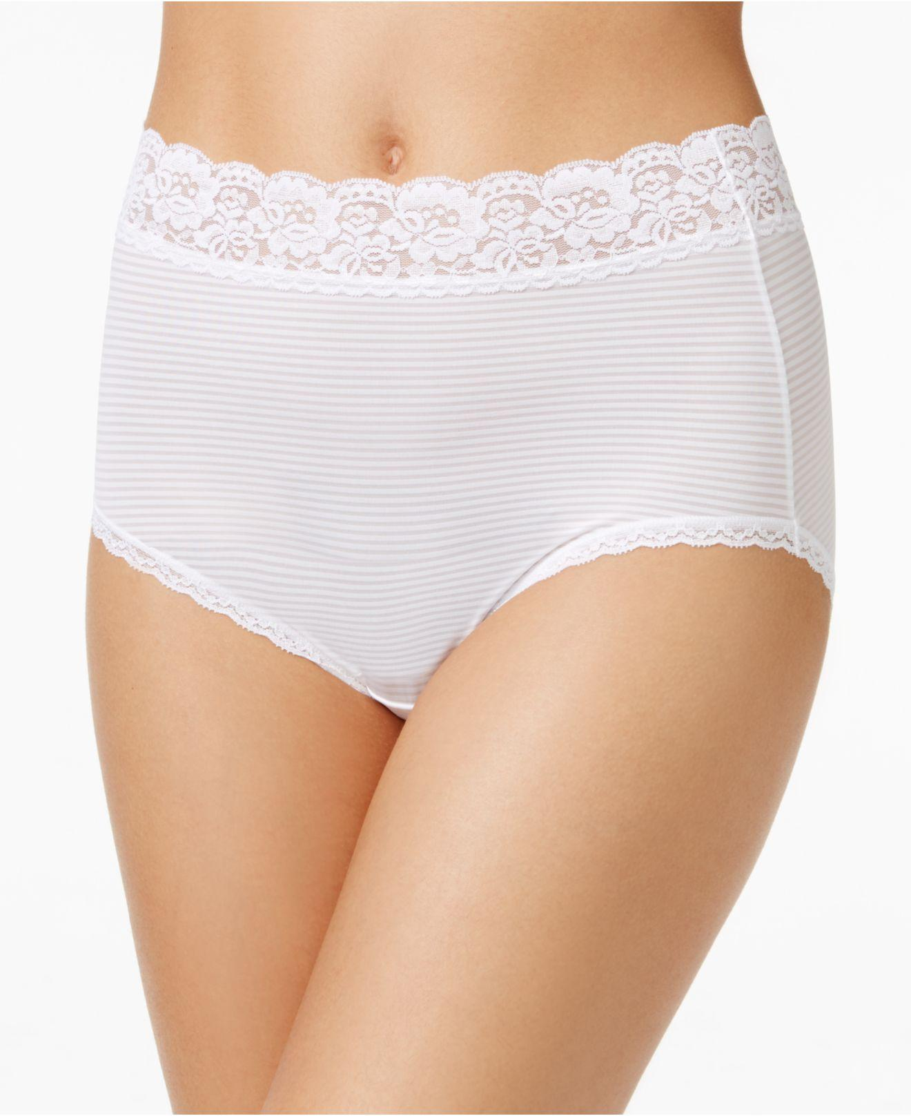 215baa198ef Lyst - Vanity Fair Flattering Lace Stretch Brief 13281, Also ...
