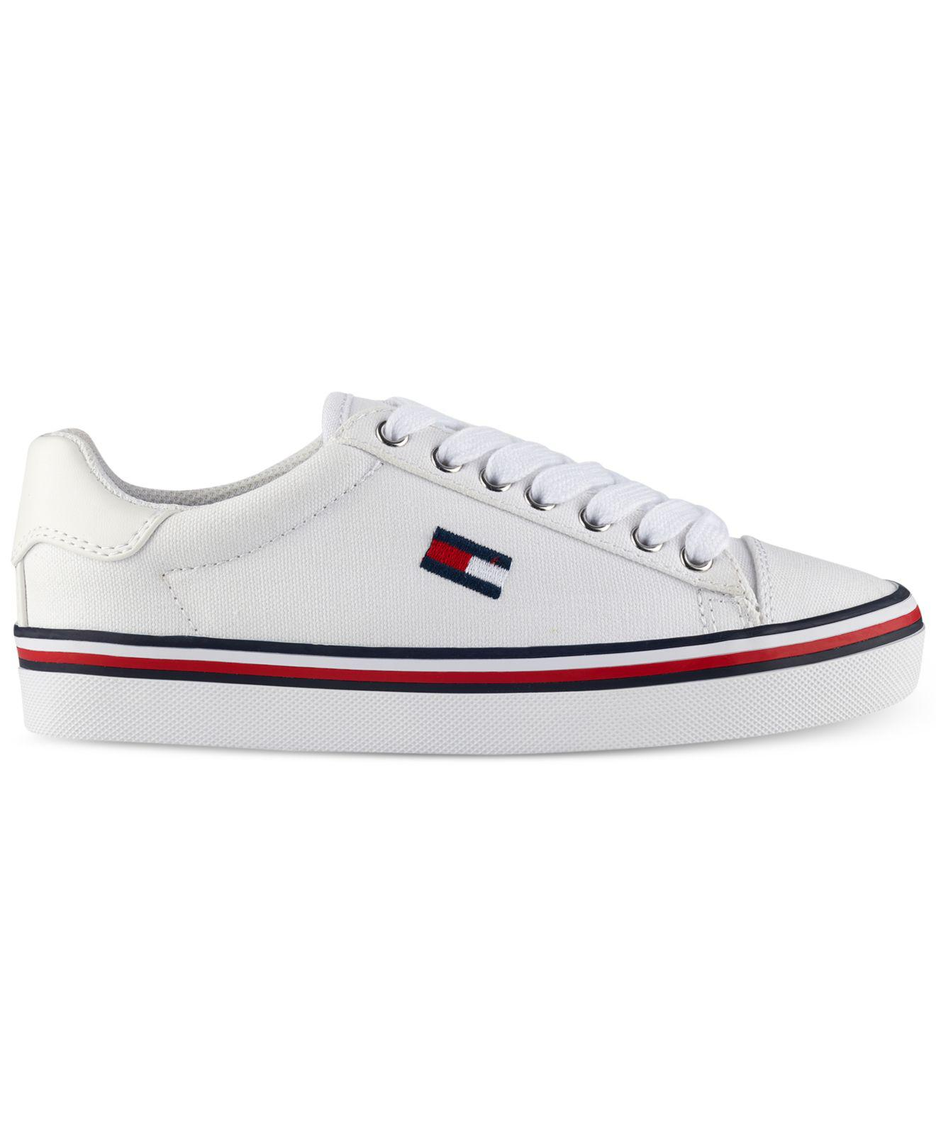 2da210deaf7d8 Lyst - Tommy Hilfiger Fressian Lace-up Sneakers in White