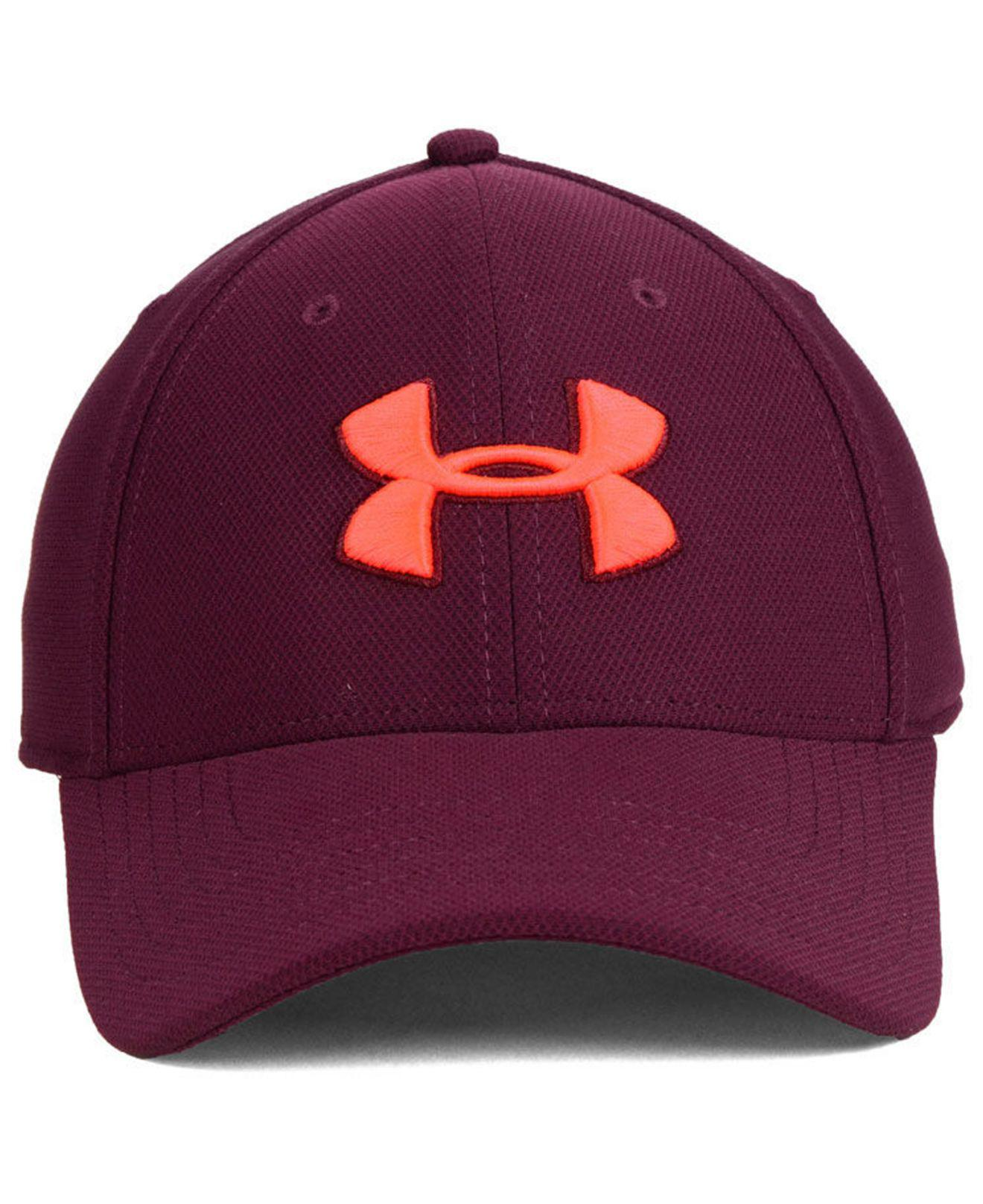 ea626e4f612 Lyst - Under Armour Blitzing 3.0 Stretch Fitted Cap in Red for Men