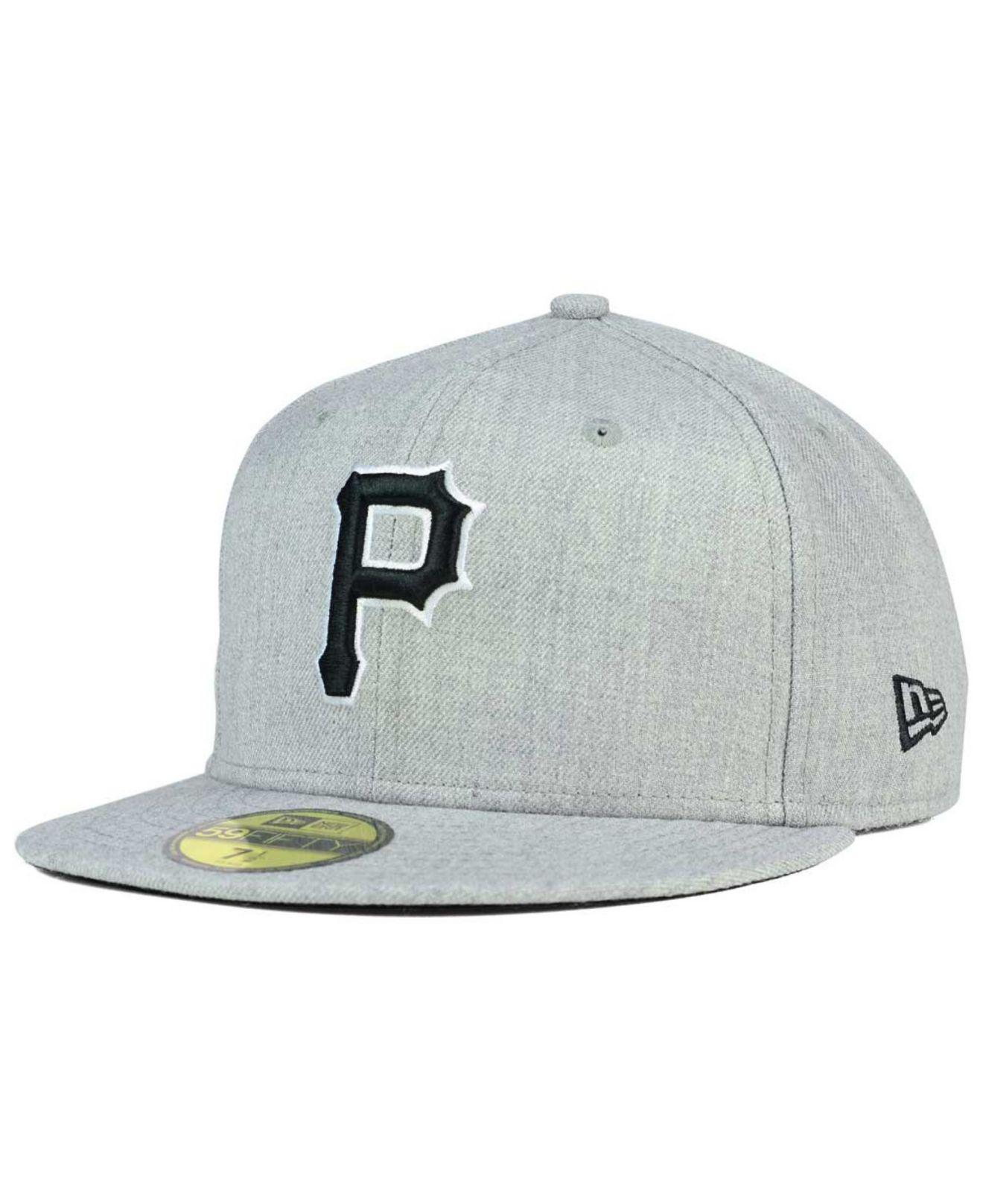 best sneakers 1c5c6 67785 KTZ - Gray Pittsburgh Pirates Heather Black White 59fifty Cap for Men -  Lyst. View fullscreen