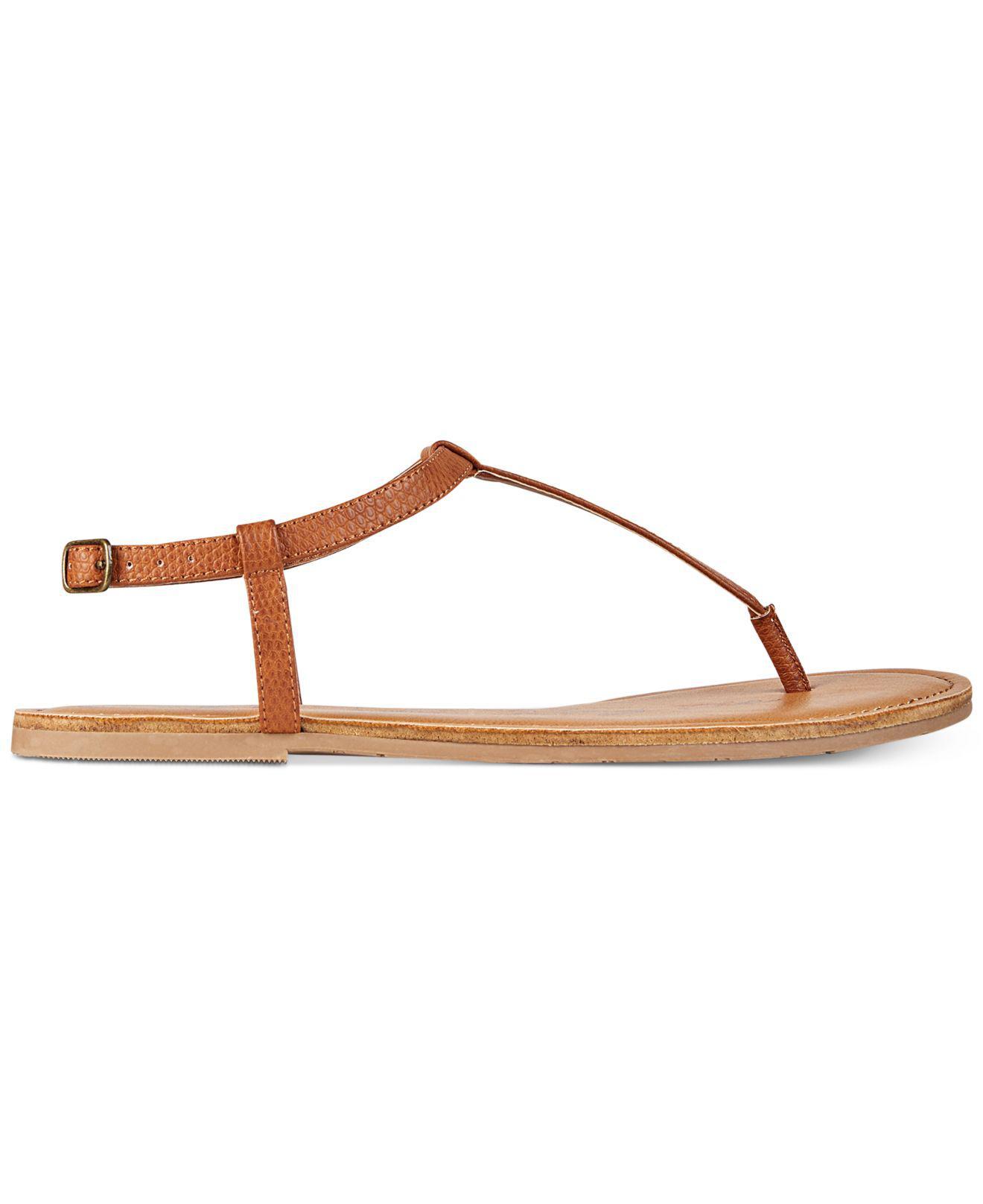 4c345333e2414 Lyst - American Rag Krista T-strap Flat Sandals in Natural