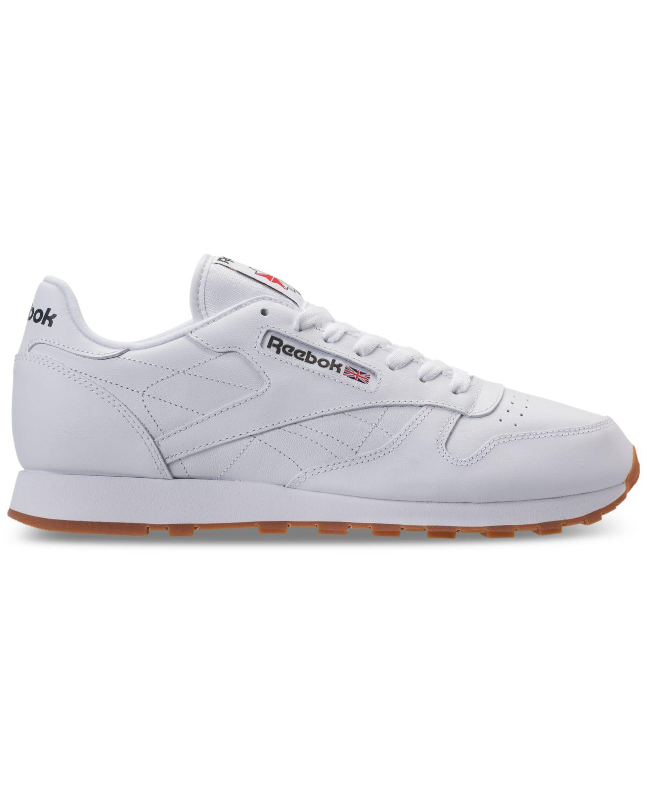 5c9dfccd53e Lyst - Reebok Men s Classic Leather Casual Sneakers From Finish Line in  White for Men