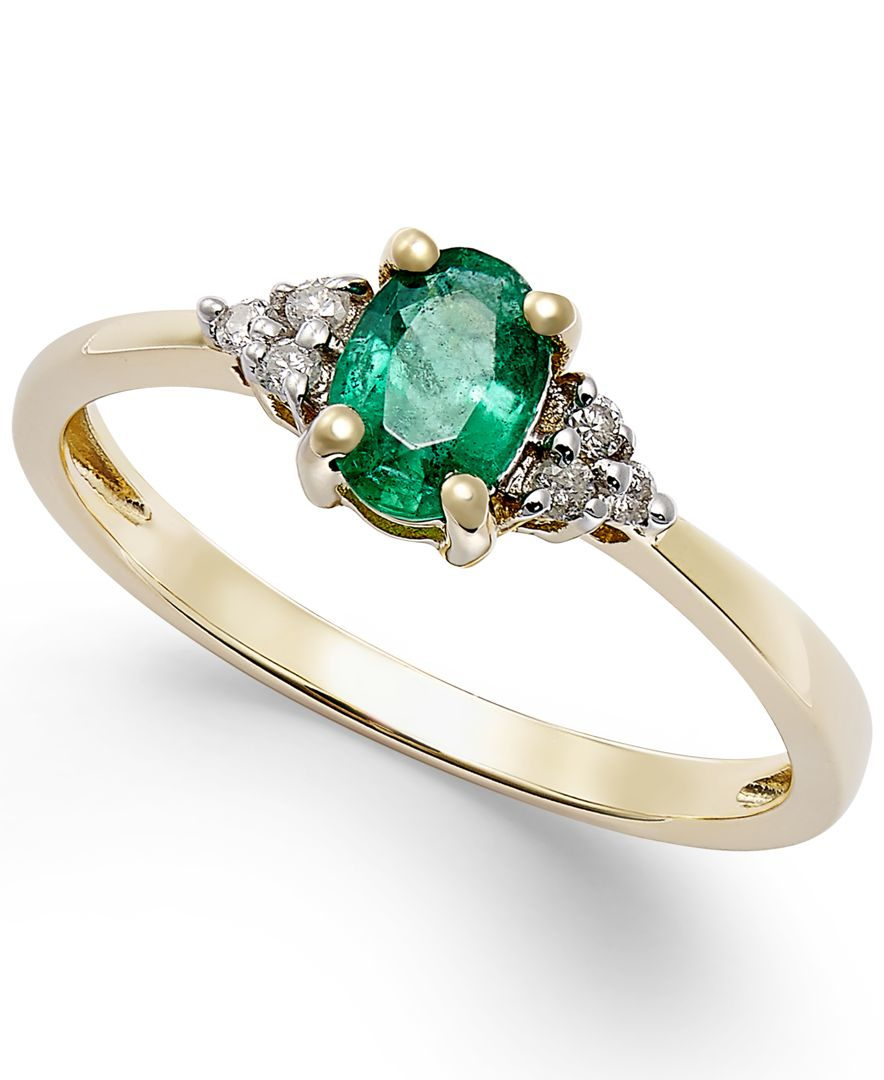 macy s emerald 2 5 ct t w and accent ring in