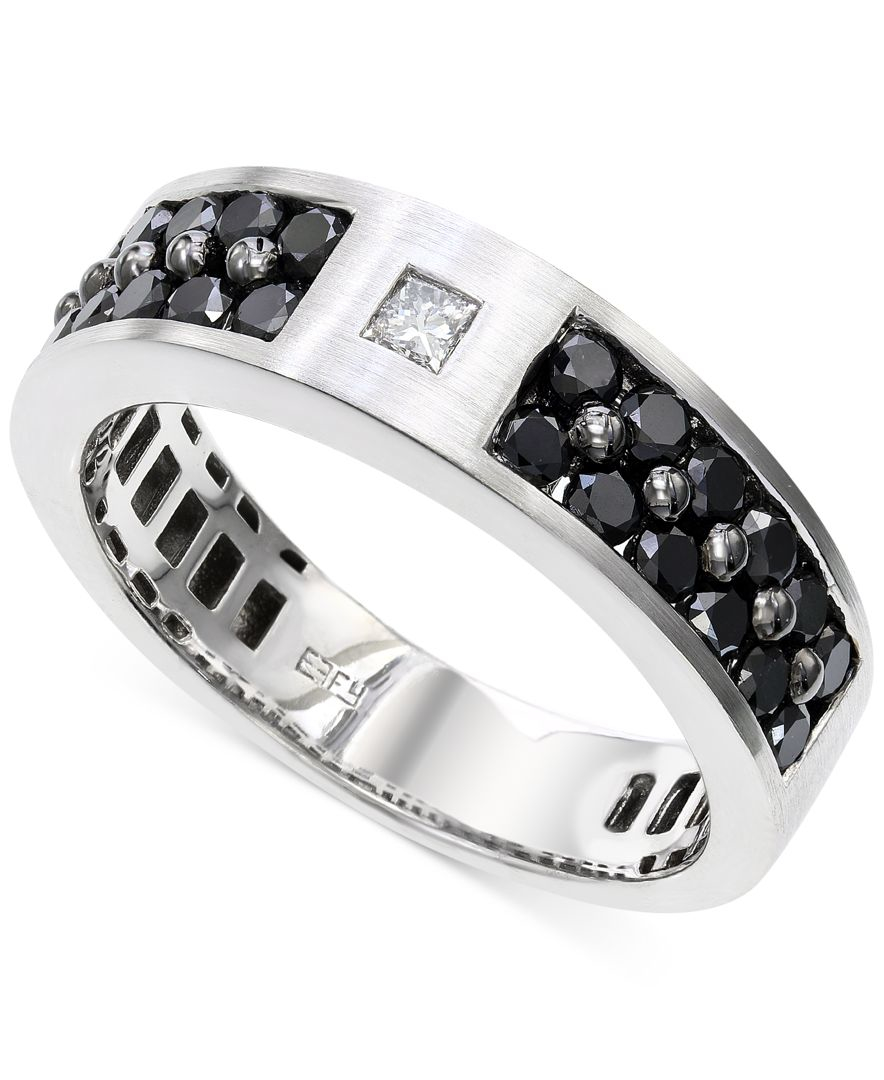 Effy Collection Effy Men S Black And White Diamond 1 1 6