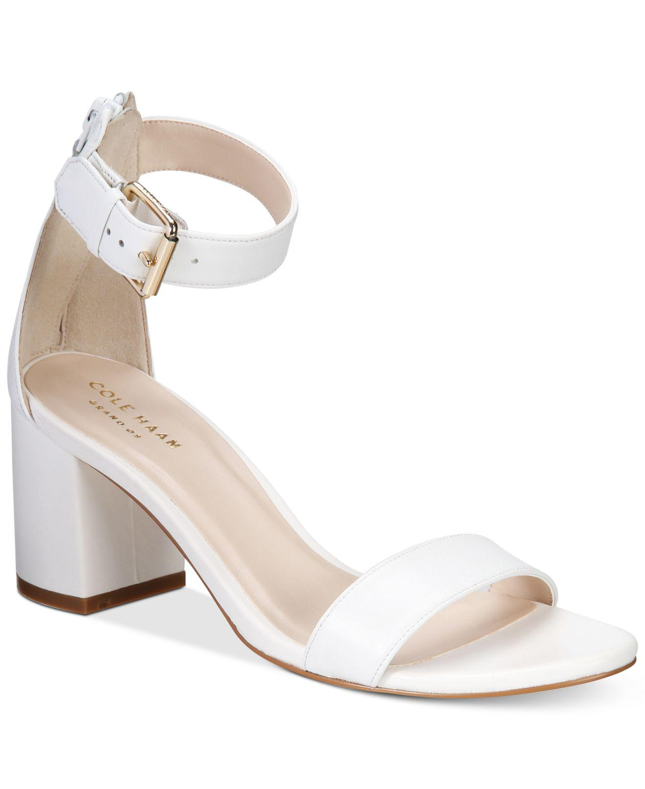 ded85152514 Lyst - Cole Haan Clarette Sandals in White