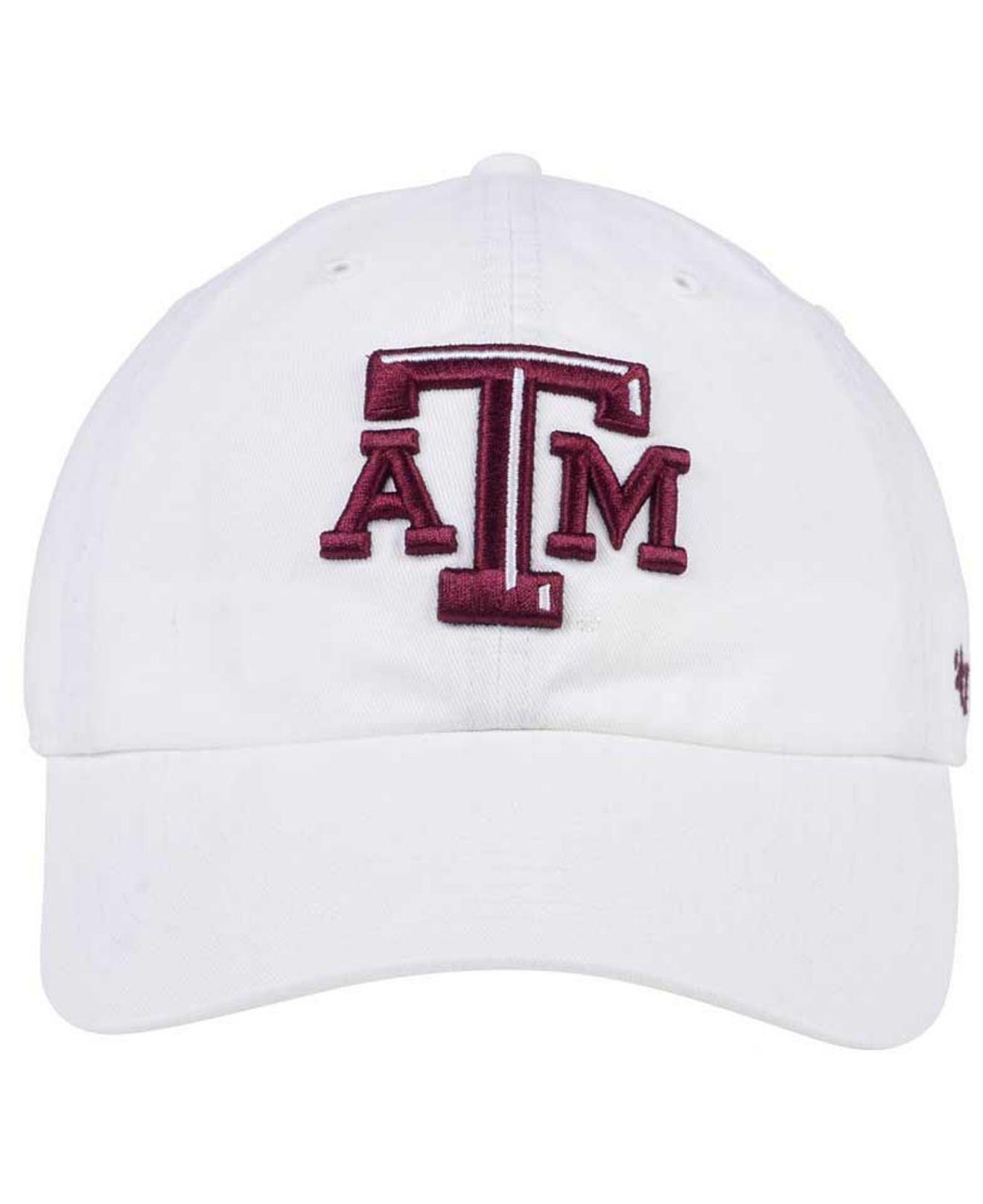 59d6d9940e1 Lyst - 47 Brand Texas A m Aggies Clean Up Cap in White for Men