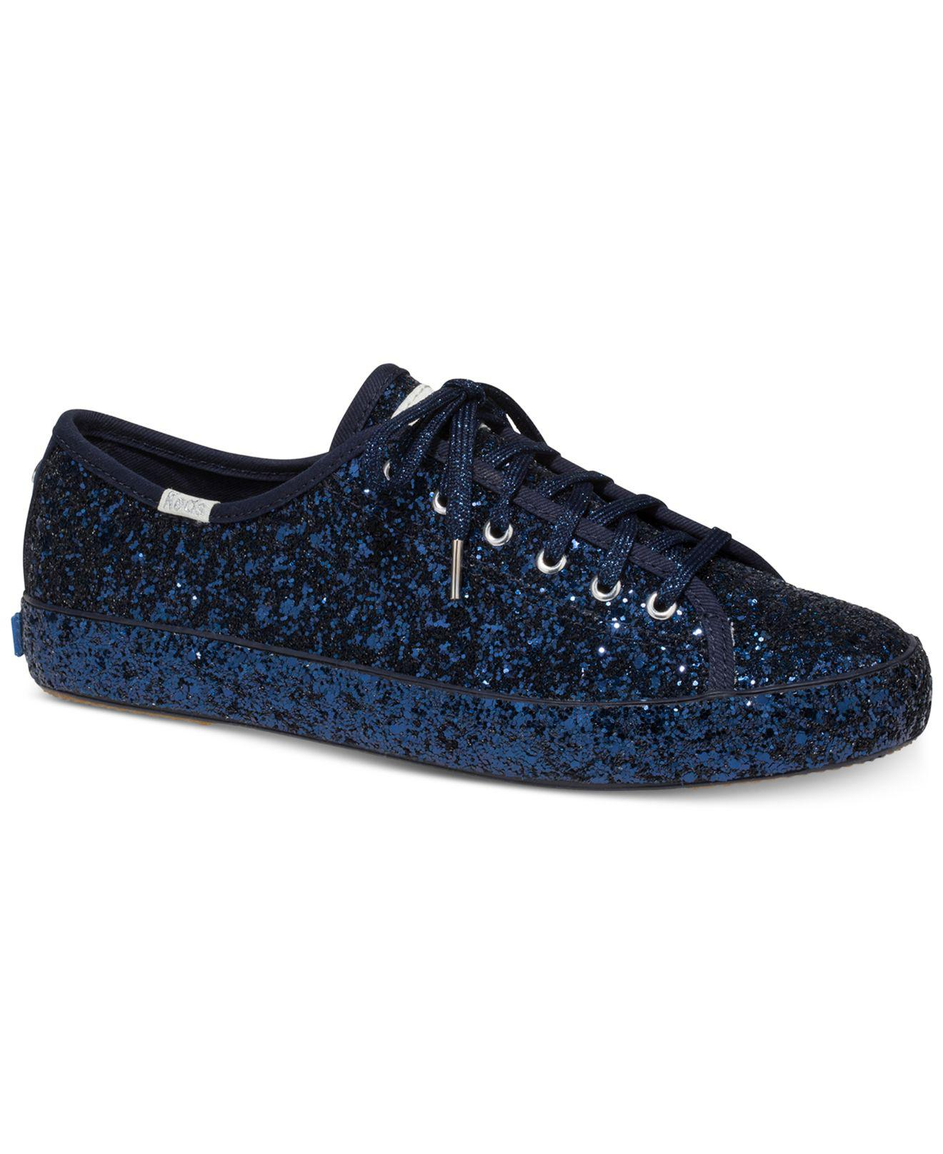 9a9304f004d Lyst - Kate Spade Keds For Kickstart Lace-up Sneakers in Blue - Save 30%