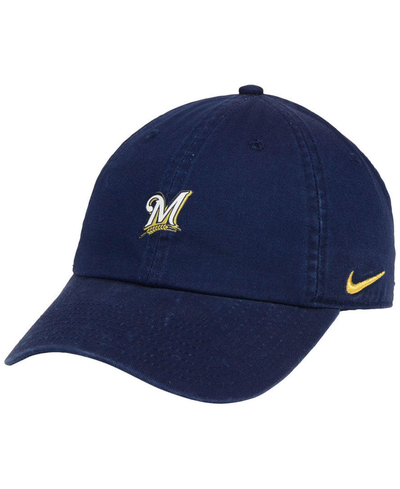 online store 1d67e 823af Nike. Men s Blue Milwaukee Brewers Micro Cap