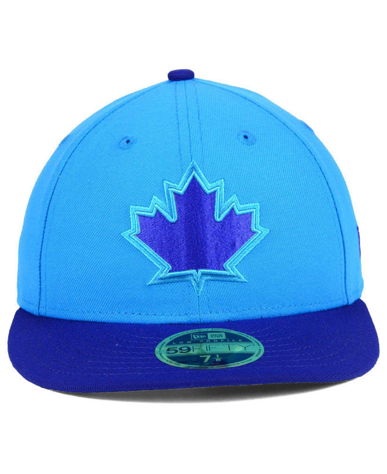 nice shoes e5f36 917a4 ... low cost lyst ktz toronto blue jays players weekend low profile 59fifty  fitted cap in blue