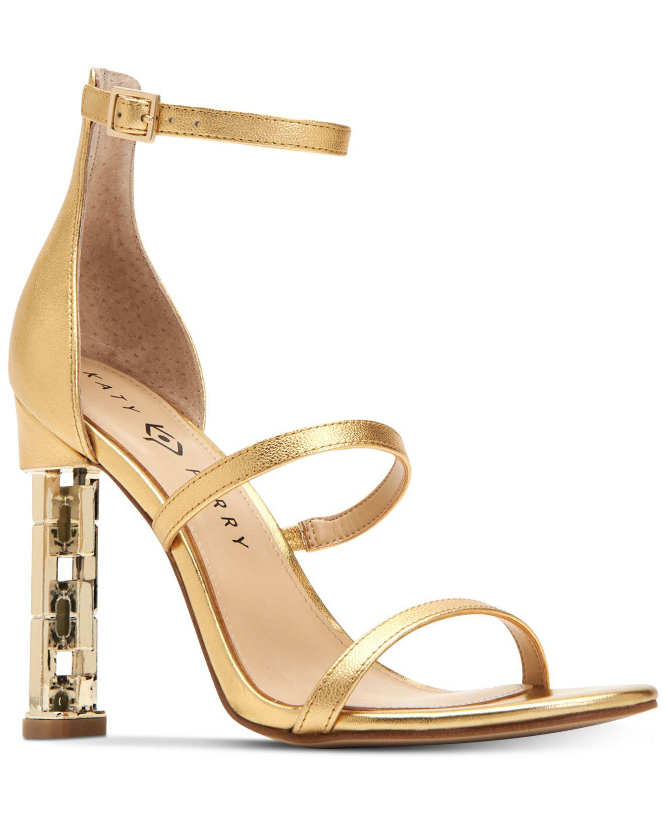 71abba074007 Lyst - Katy Perry Villan Ankle Strap Chain Detail Heel Strappy Dress ...