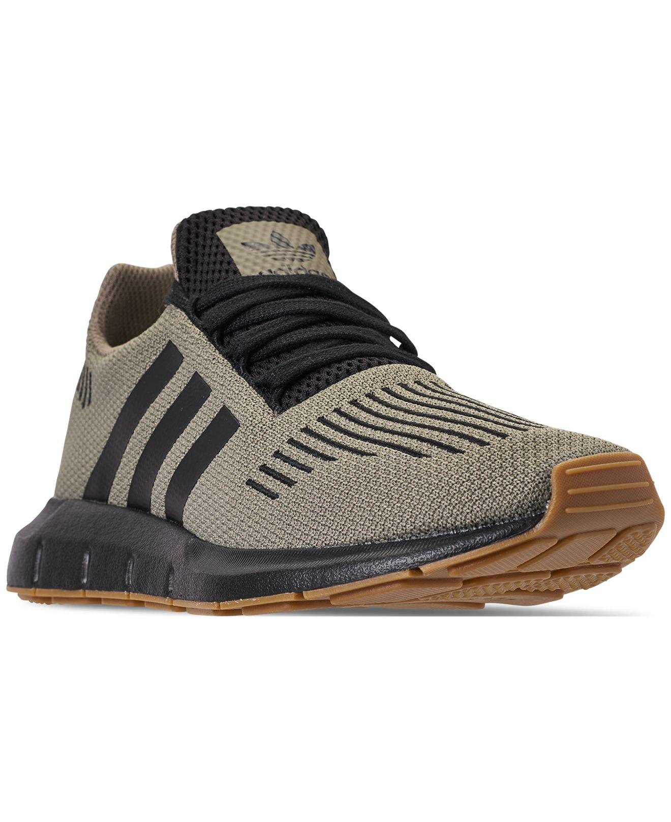 d6d7c21bd Lyst - adidas Swift Run Casual Sneakers From Finish Line in Black ...