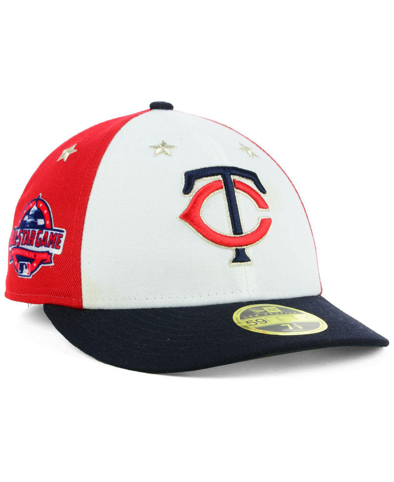 hot sales 2517a 4f55e ... usa ktz. mens minnesota twins all star game patch low profile 59fifty  fitted cap 2018