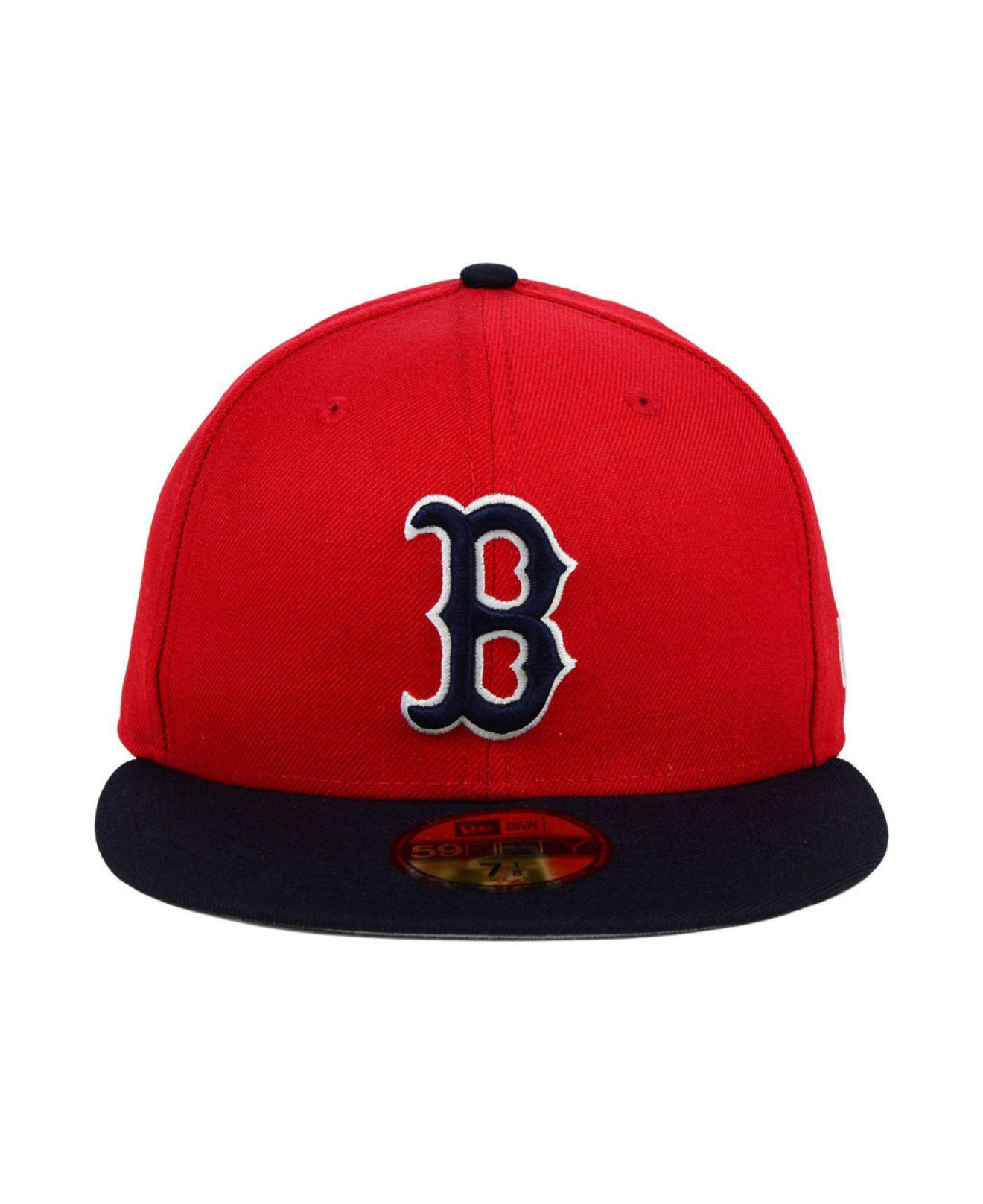 00c18031ad7b69 ... coupon code for lyst ktz boston red sox mlb cooperstown 59fifty cap in  red for men