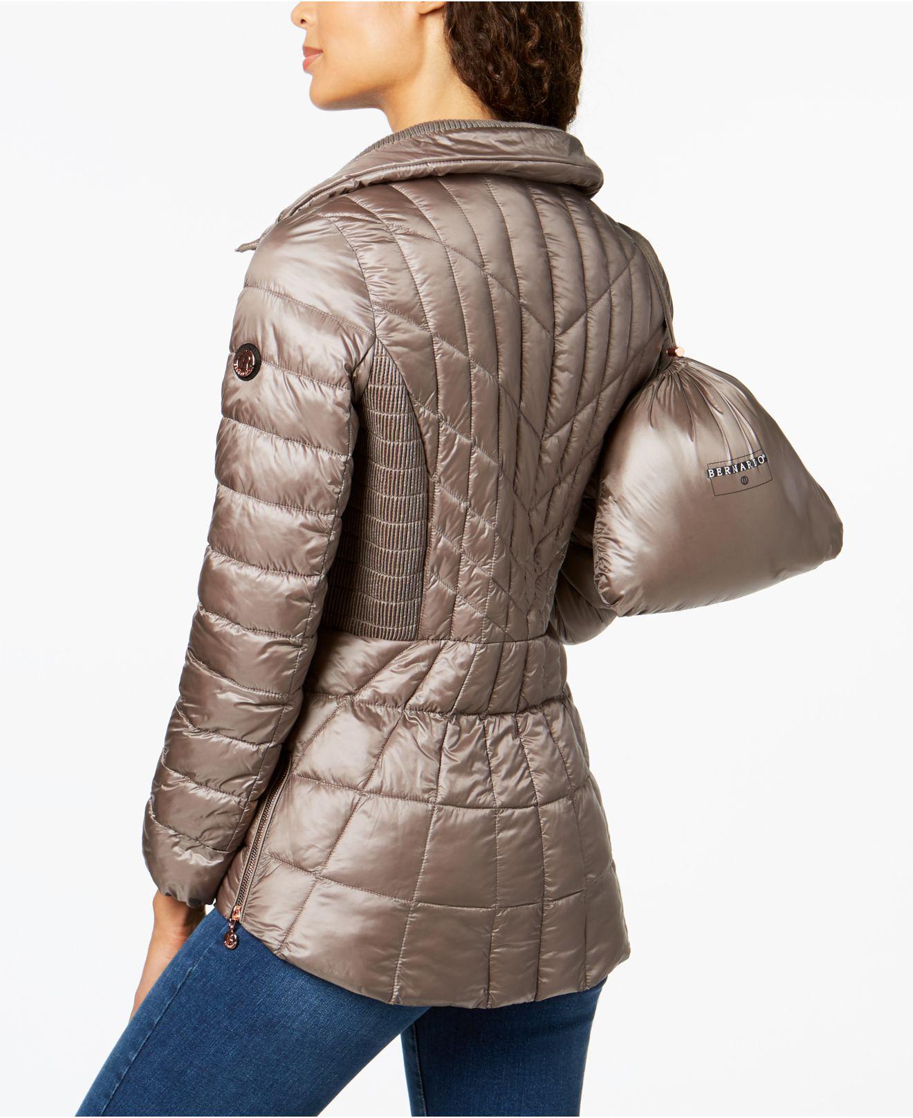 b1d816b088d Lyst - Bernardo Quilted Packable Puffer Coat