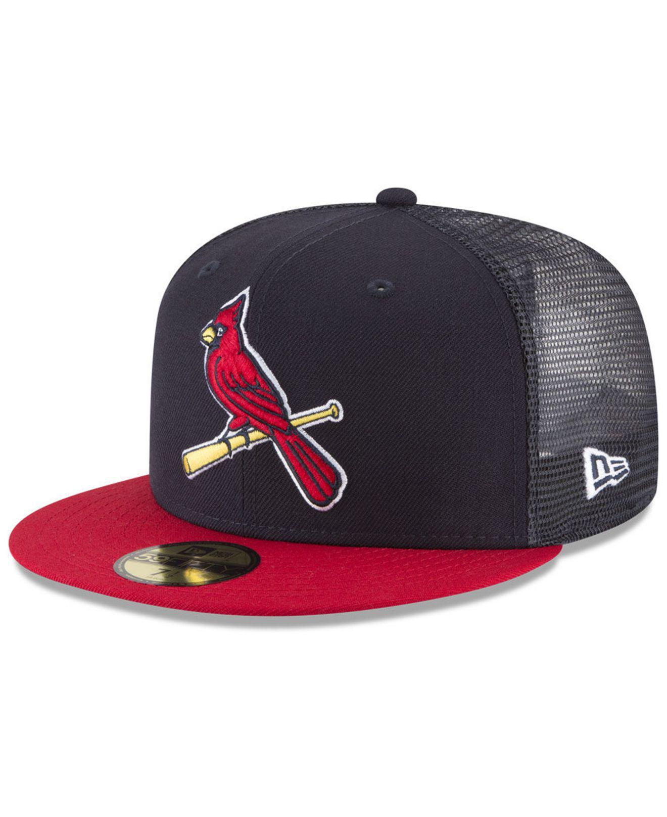 sale retailer e08b0 4f0db ... new era st. louis cardinals charcoal classic 39thirty cap 6f660 ecc5e   purchase ktz. mens blue st. louis cardinals on field mesh back 59fifty fitted  cap