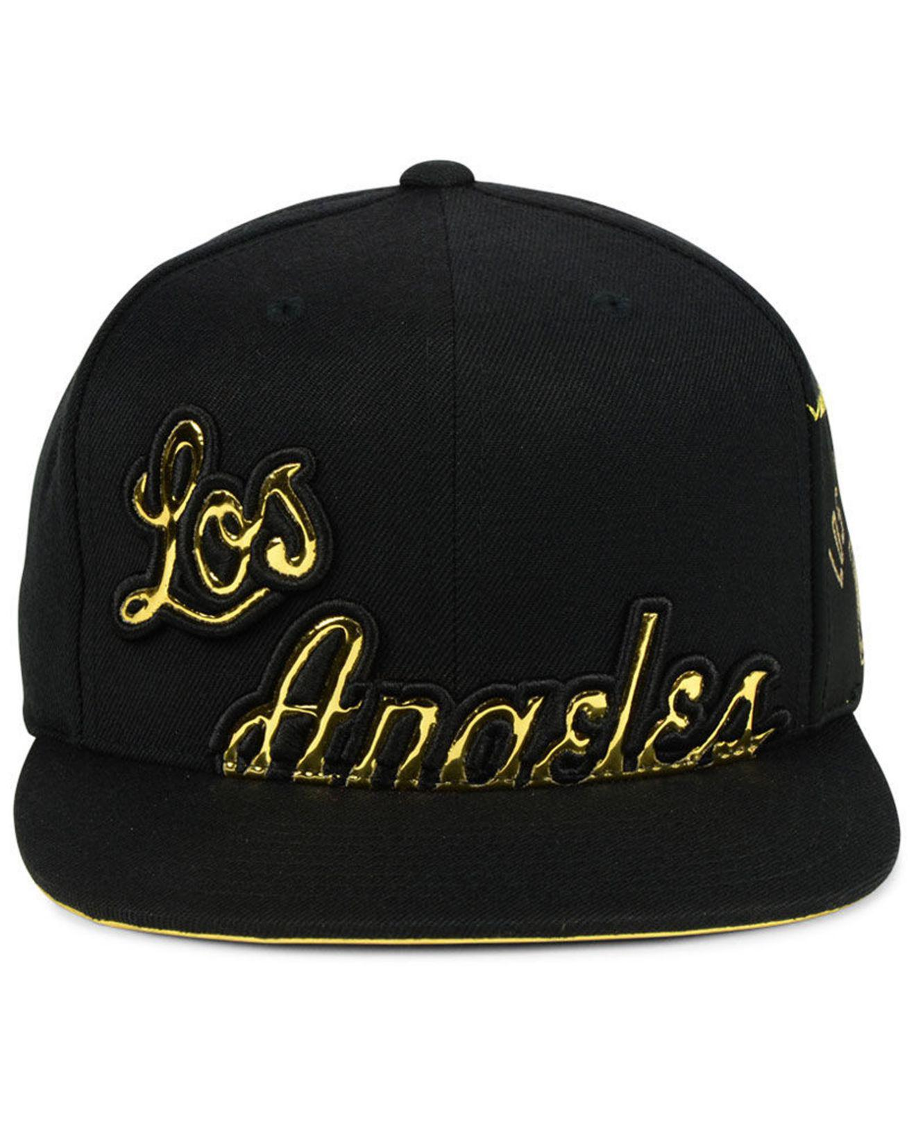 f78879524b2a4 ... free shipping lyst mitchell ness los angeles lakers patent cropped  snapback 5f55c 380ce