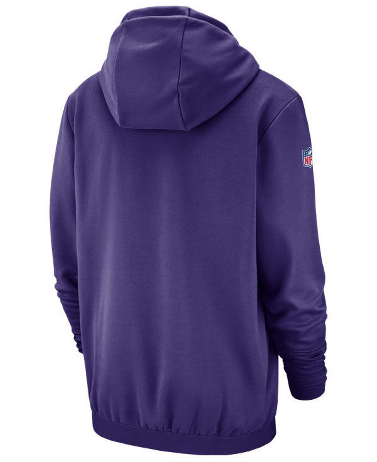 Lyst - Nike Minnesota Vikings Sideline Player Therma Hoodie in Purple for  Men 4eda05d7c