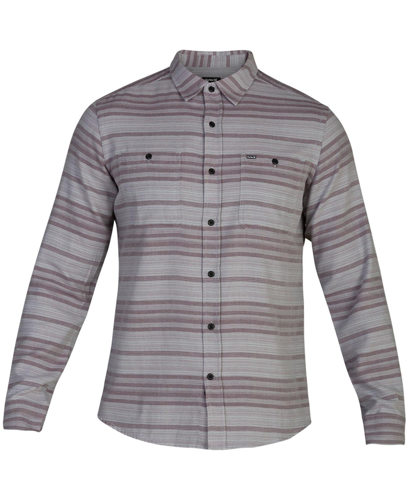 Lyst Hurley Blake Long Sleeve Shirt Created For Macys In Gray