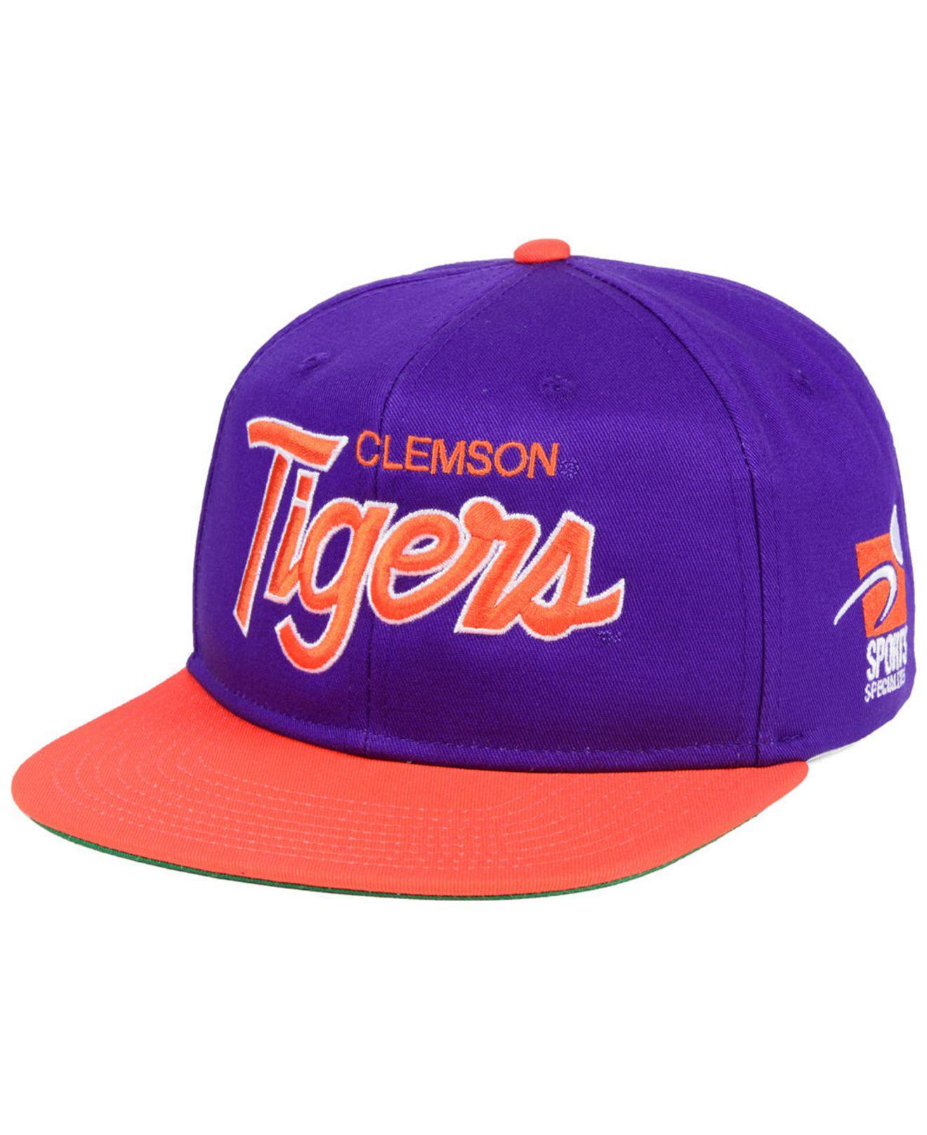 ff47f9c6f34 Lyst - Nike Clemson Tigers Sport Specialties Snapback Cap in Purple ...