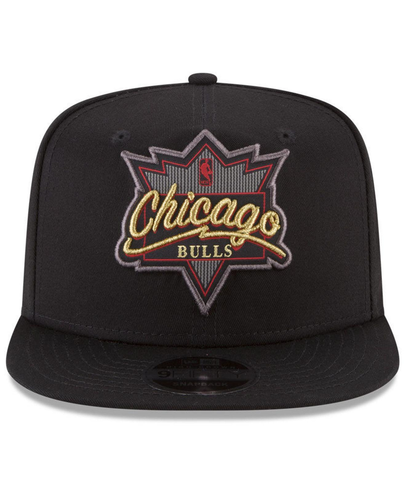 save off 2b1f9 767ce ... usa lyst ktz chicago bulls retro showtime 9fifty snapback cap in black  for men 7666b 96f9b