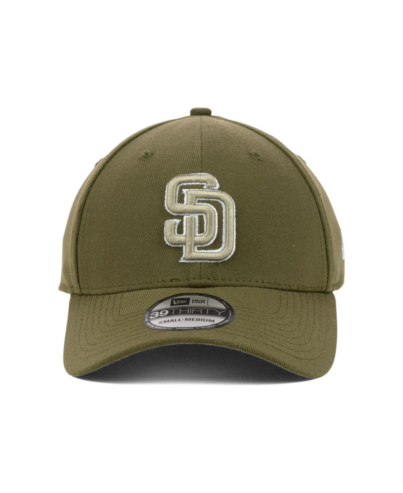 4ca3f86201061 ... canada lyst ktz san diego padres mlb team classic 39thirty cap in brown  for men 03c32