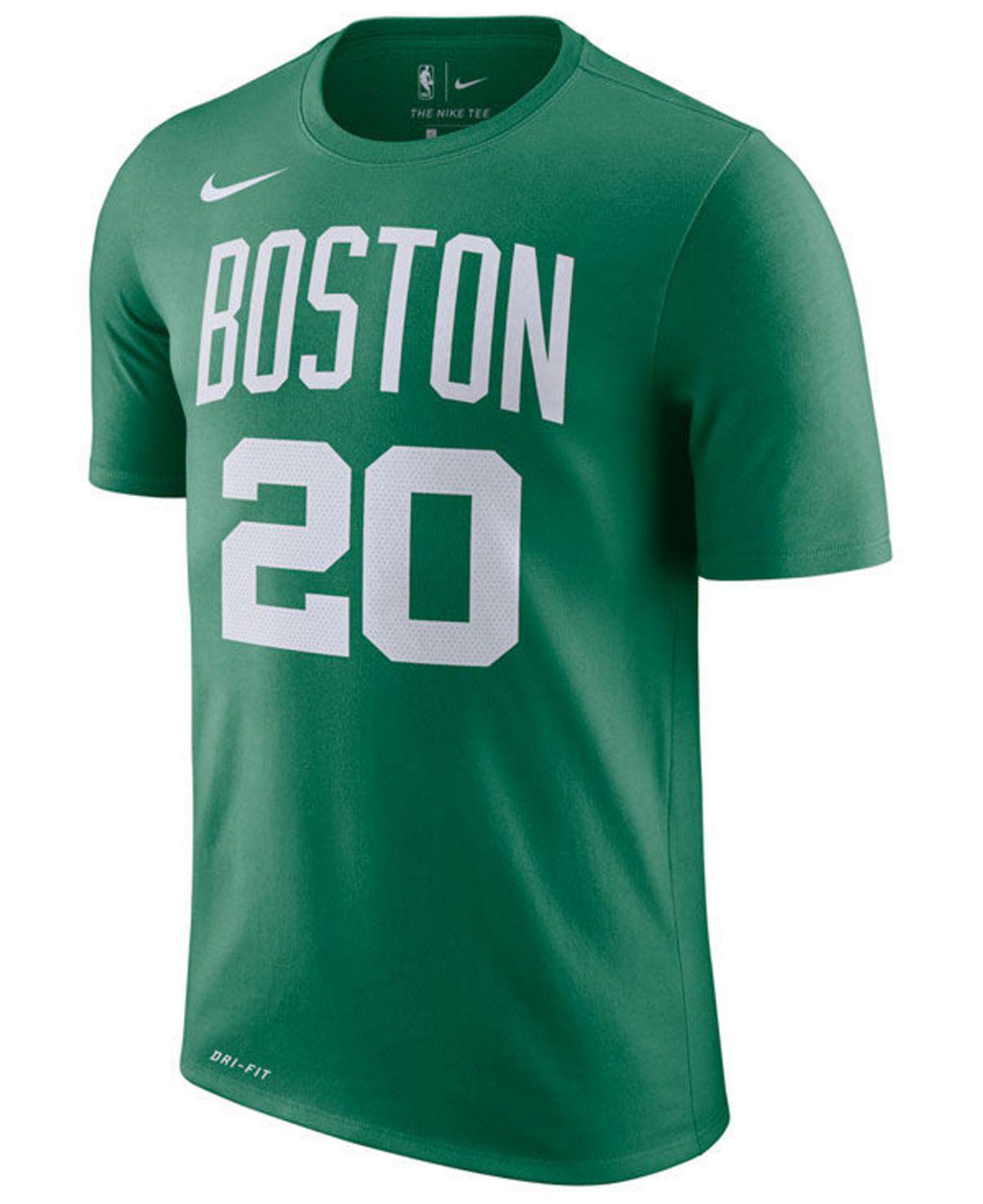b74ec0c0a Lyst - Nike Gordon Hayward Boston Celtics Icon Player T-shirt in Green for  Men