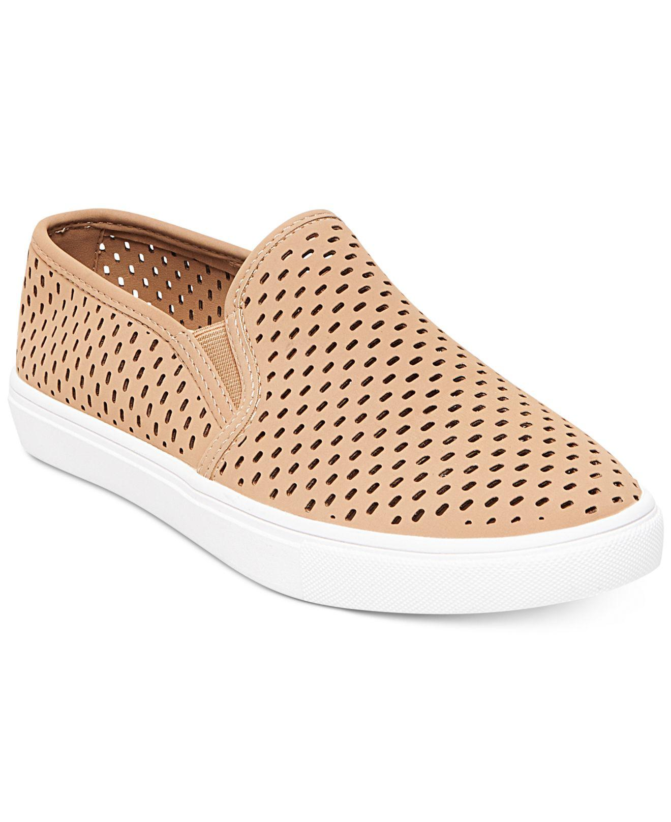 d77f1b95bfa Lyst - Steve Madden Women s Elouise Perforated Slide-on Sneakers