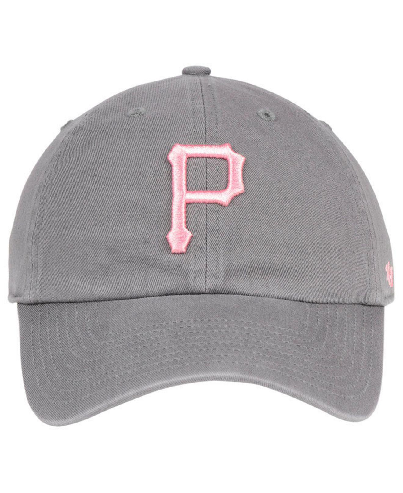 watch 117a8 649ce ... coupon code for lyst 47 brand pittsburgh pirates dark gray pink clean  up cap in gray