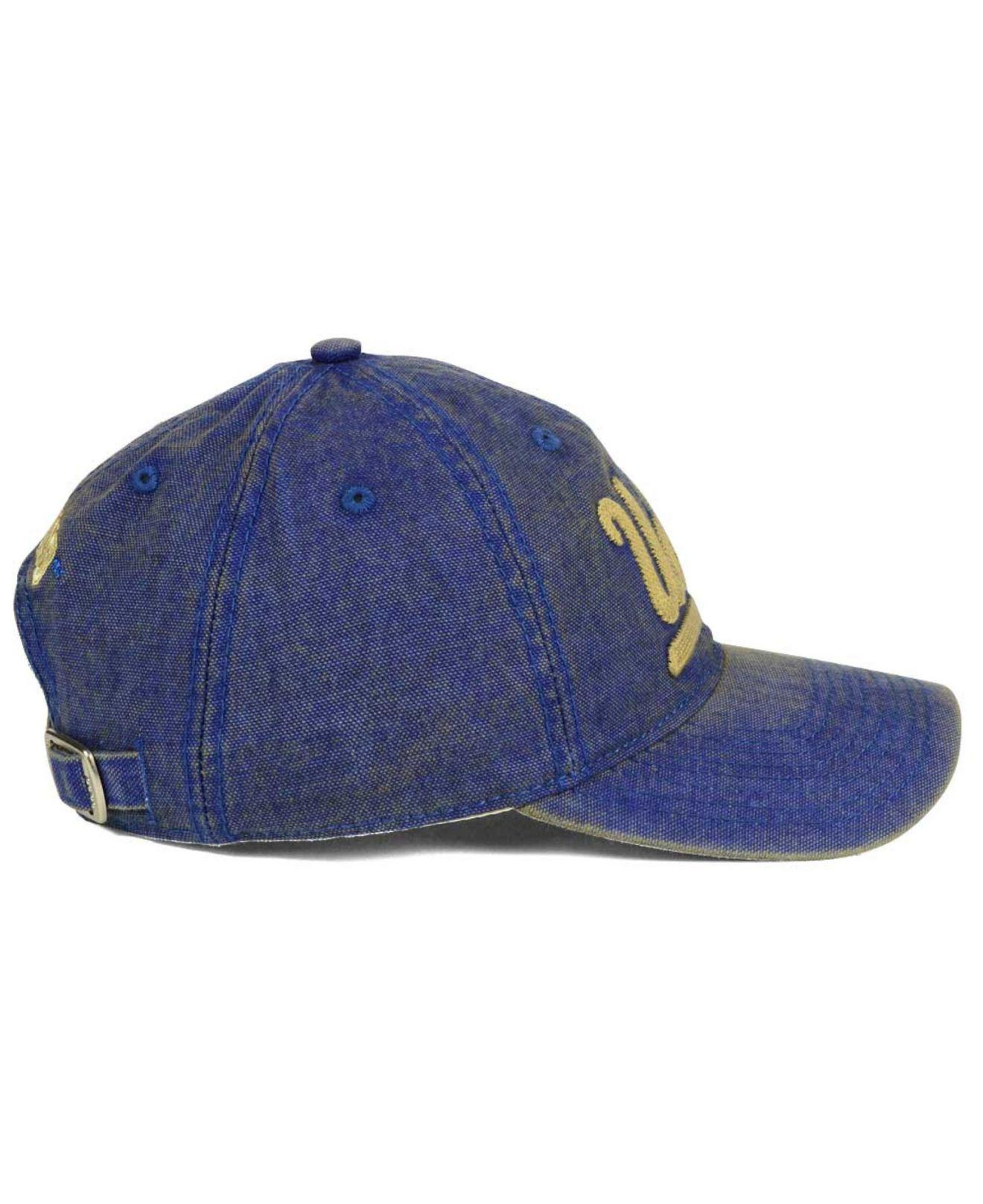 5678c22e8f2e8 ... usa lyst adidas ucla bruins over dye slouch cap in blue for men 59094  f7916