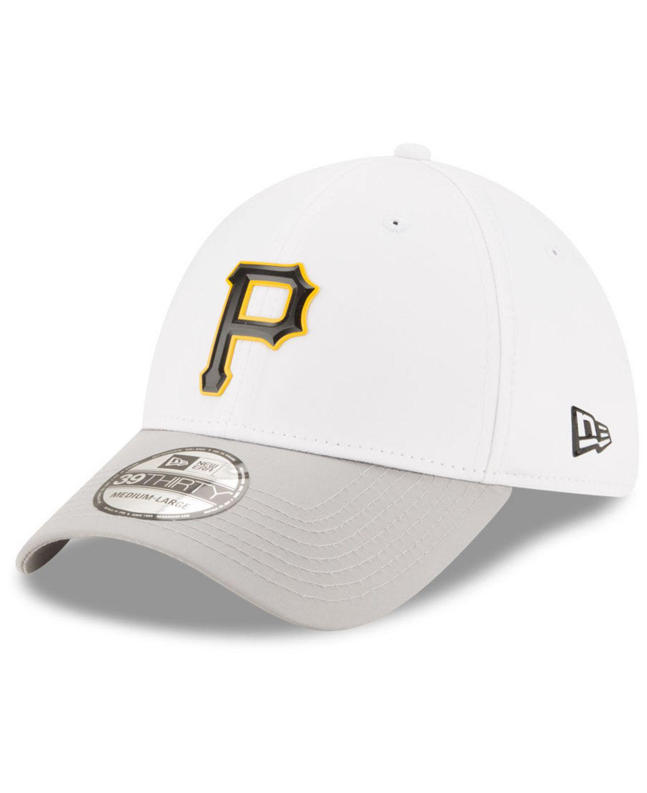 beac21270a3b3 sweden ktz pittsburgh pirates white batting practice 39thirty cap for men  lyst. view fullscreen bd7e2