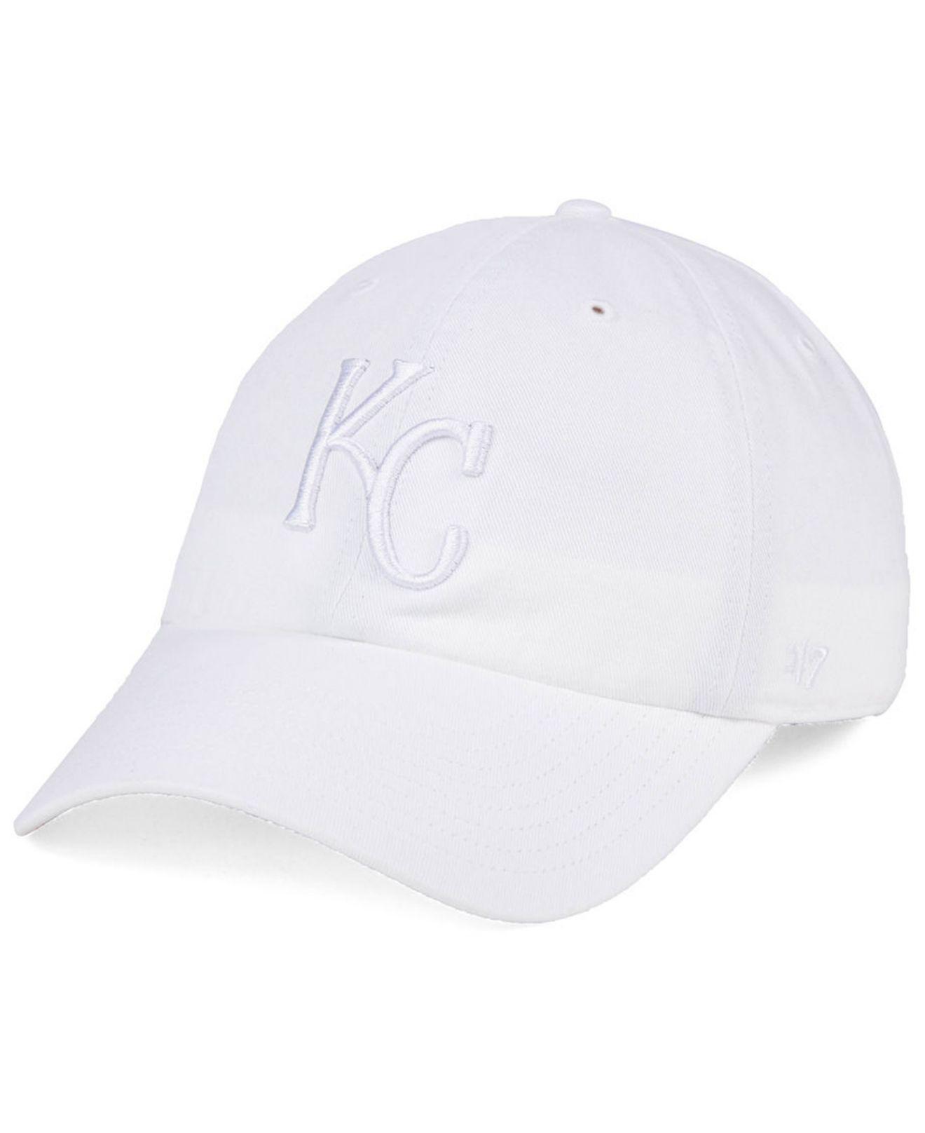 b5f2cadebf2 Lyst - 47 Brand Kansas City Royals White white Clean Up Cap in White ...