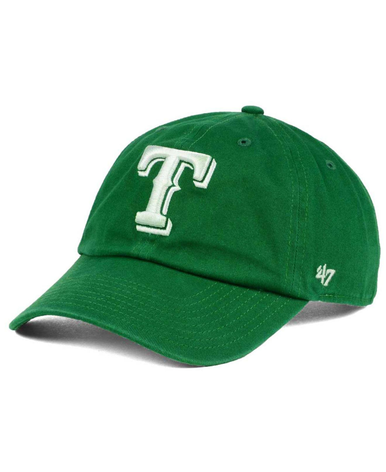 0635c3d0217e7 ... discount code for 47 brand. mens green texas rangers kelly white clean  up cap 238b2 sale texas longhorns ...