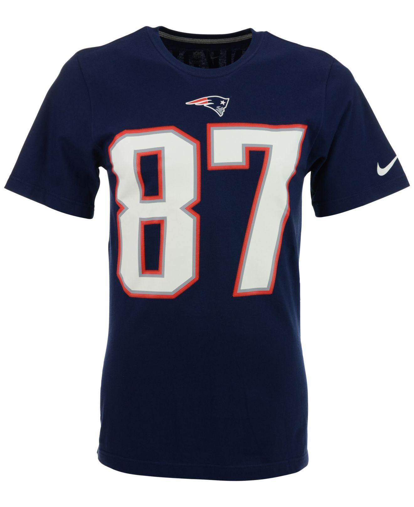 Lyst - Nike Men s Short-sleeve Rob Gronkowski New England Patriots Player T- shirt in Blue for Men 207d951b6