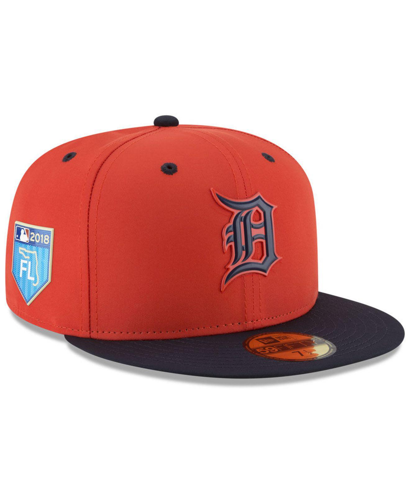 reputable site b8fcf 7702b KTZ Detroit Tigers Spring Training Pro Light 59fifty Fitted Cap in ...