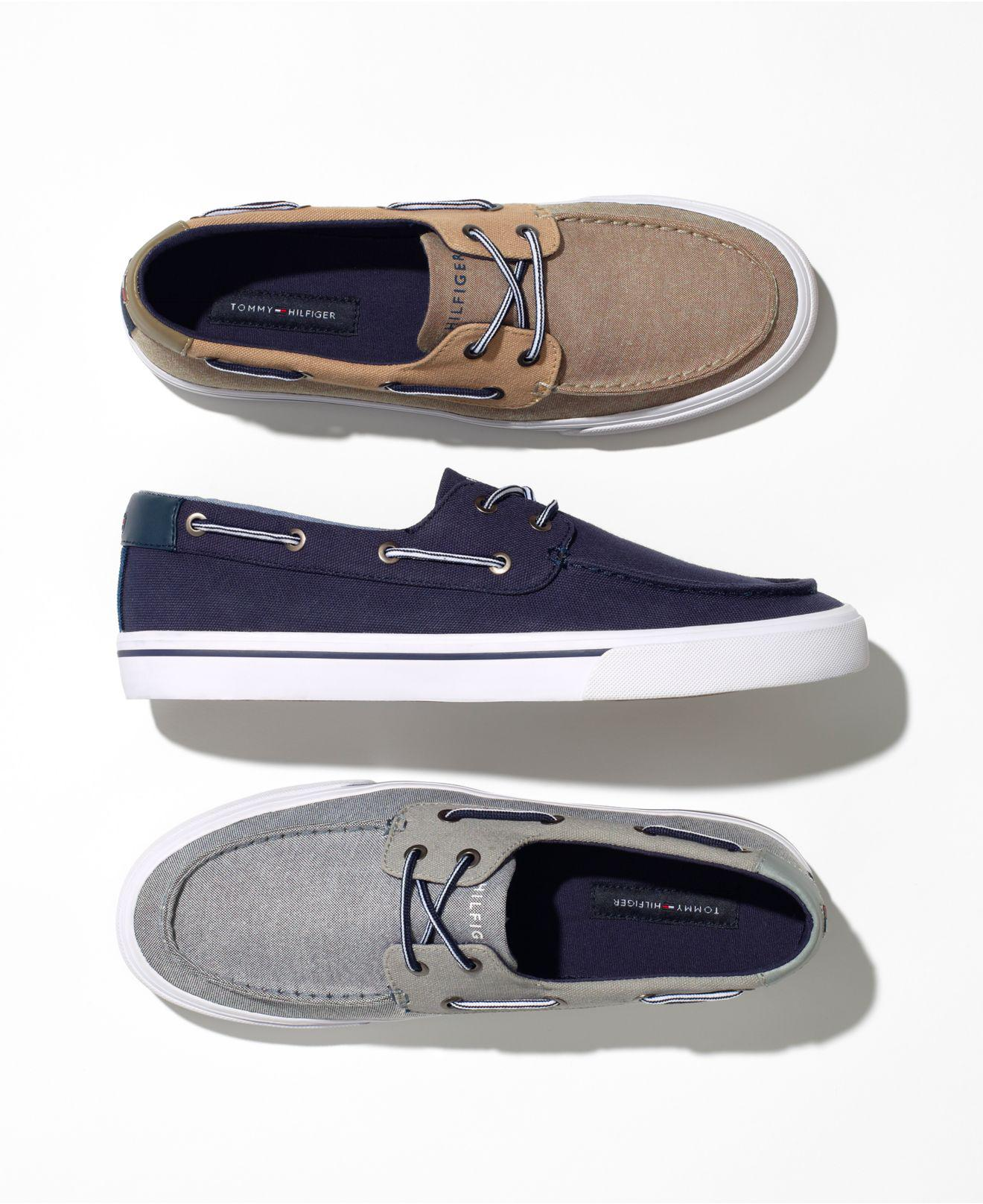 4d3210272d9985 Lyst - Tommy Hilfiger Phinx Canvas Boat Shoes